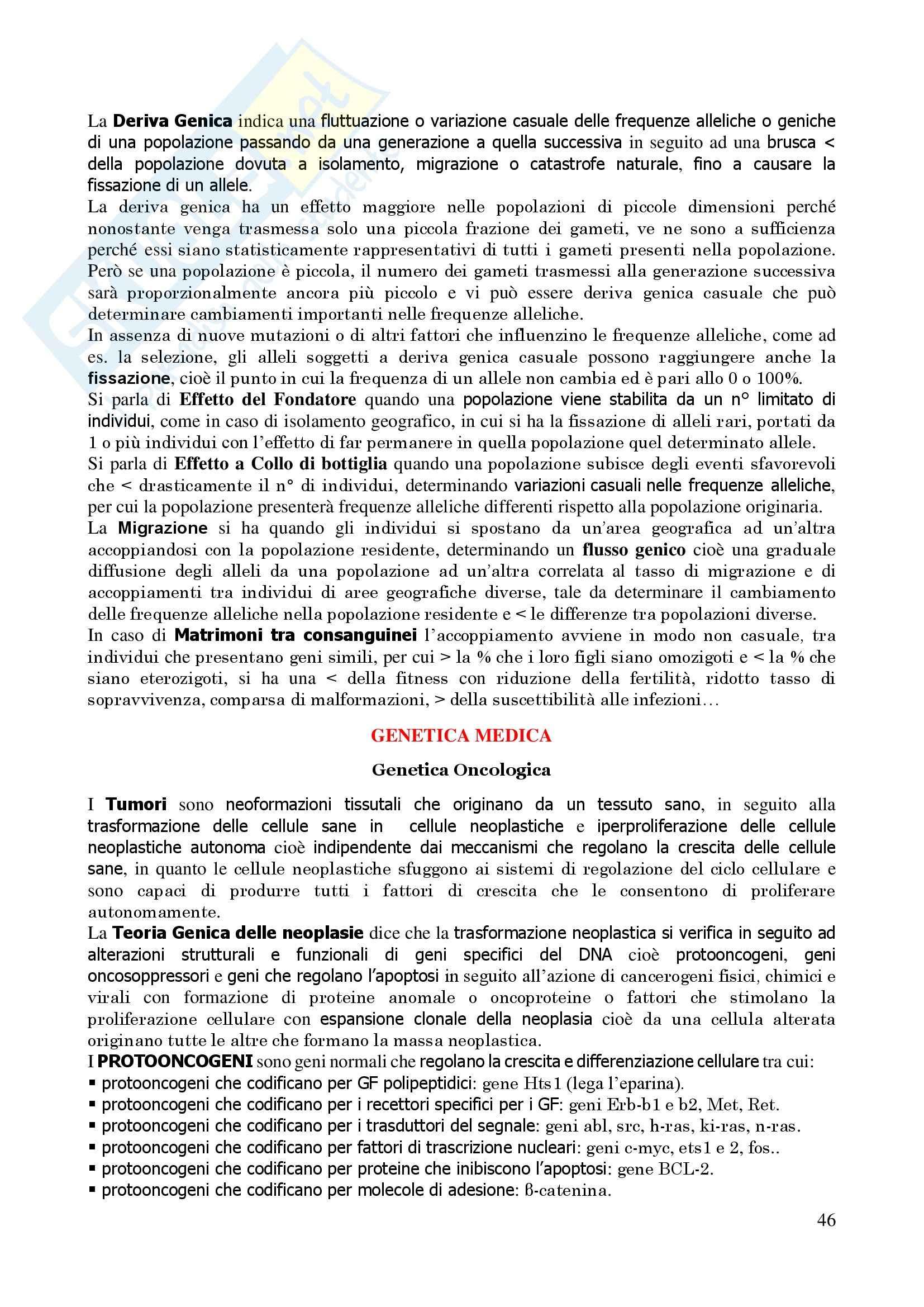 Genetica Umana - Appunti Pag. 46