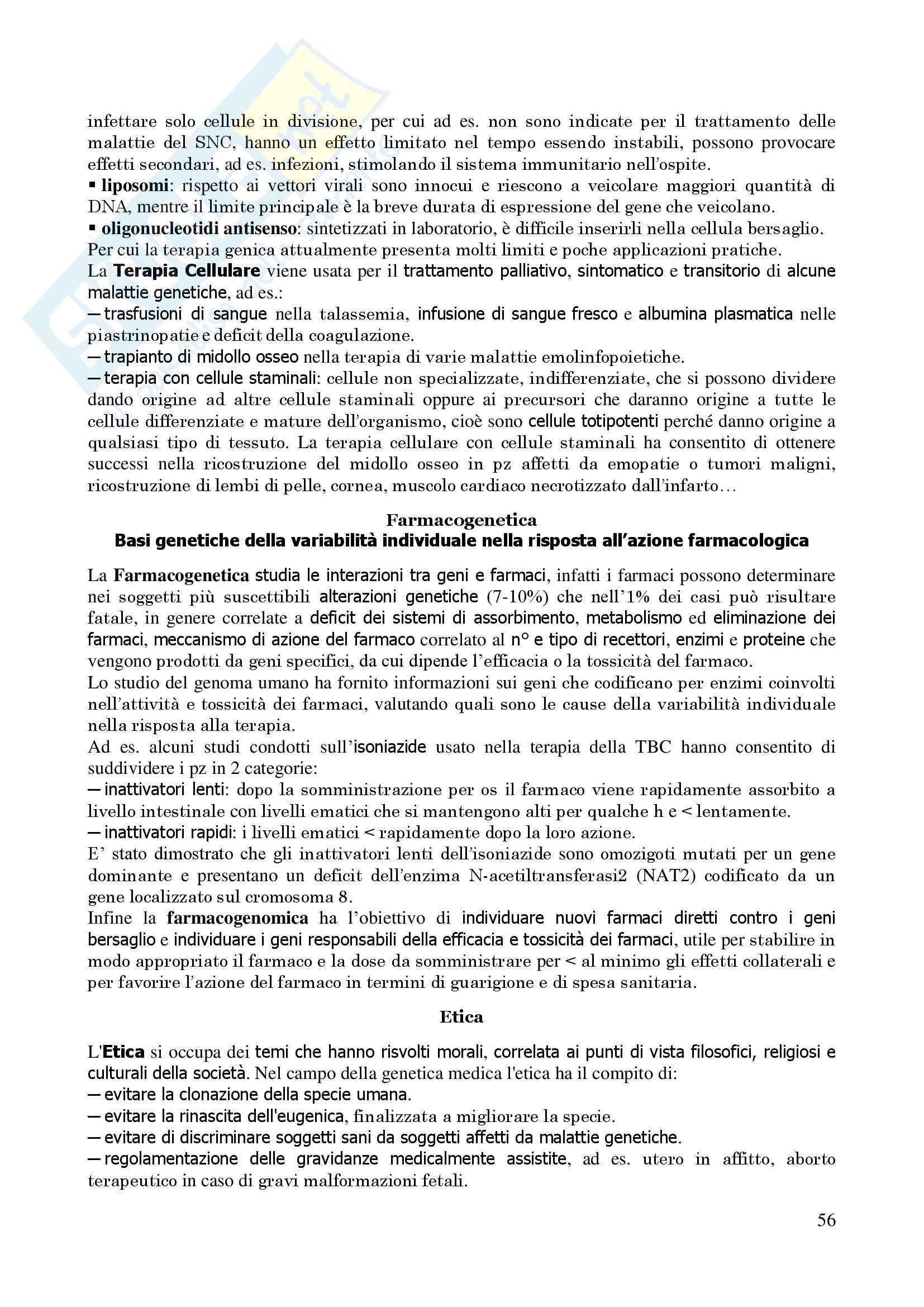 Genetica Umana - Appunti Pag. 56