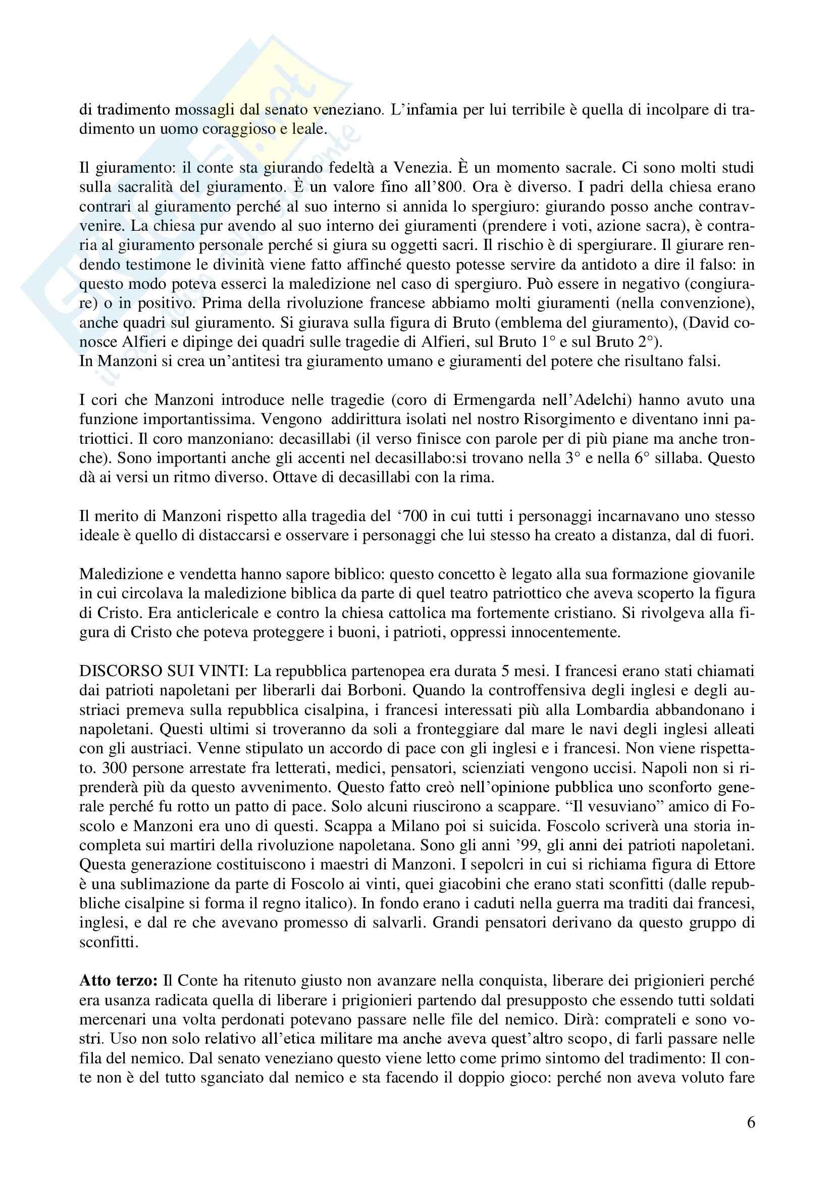 Letteratura teatrale italiana - Il conte di Carmagnola Pag. 6