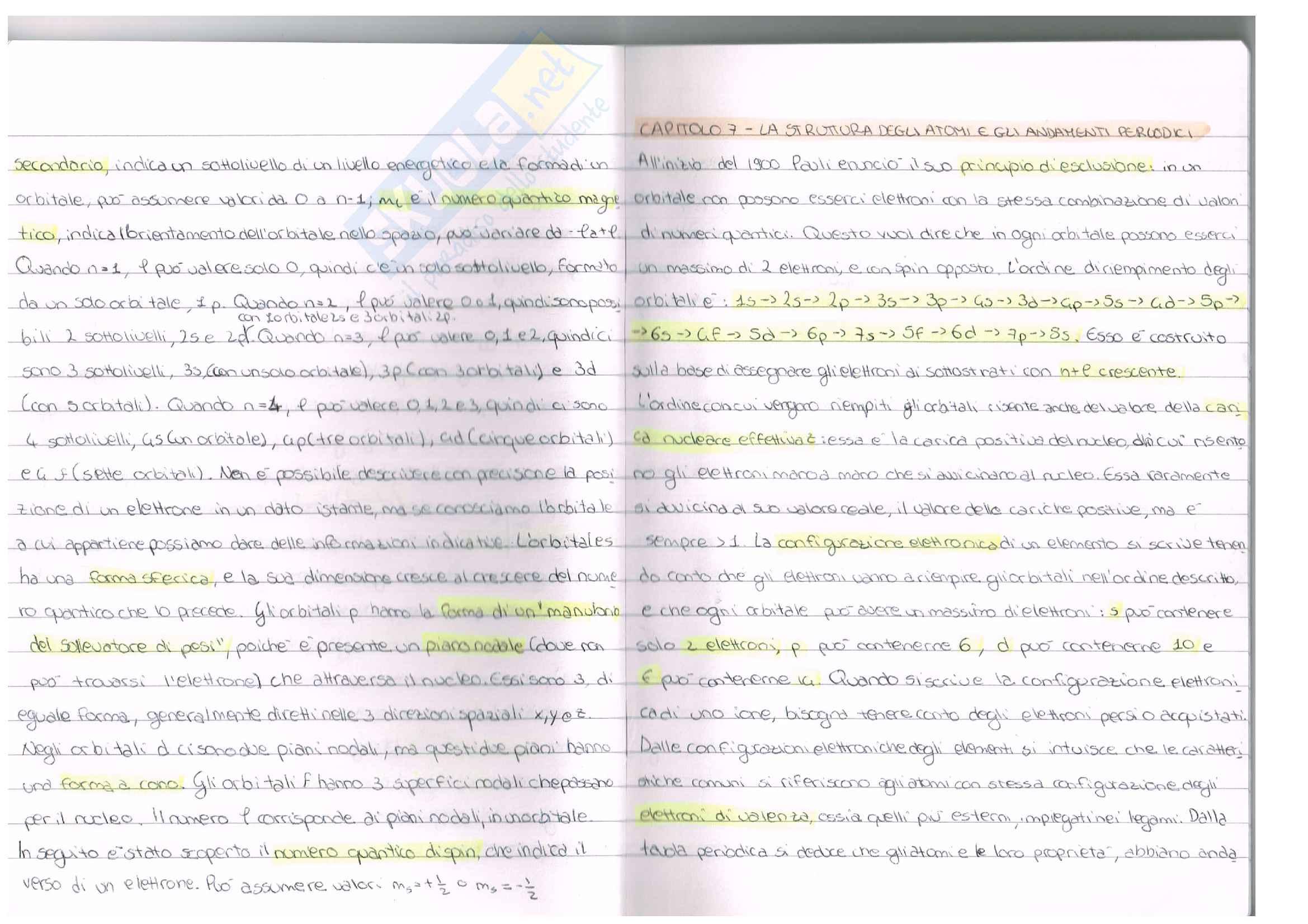 Appunti esame chimica inorganica, prof. Ugo Caruso, libro consigliato Chimica, Kotz Pag. 11