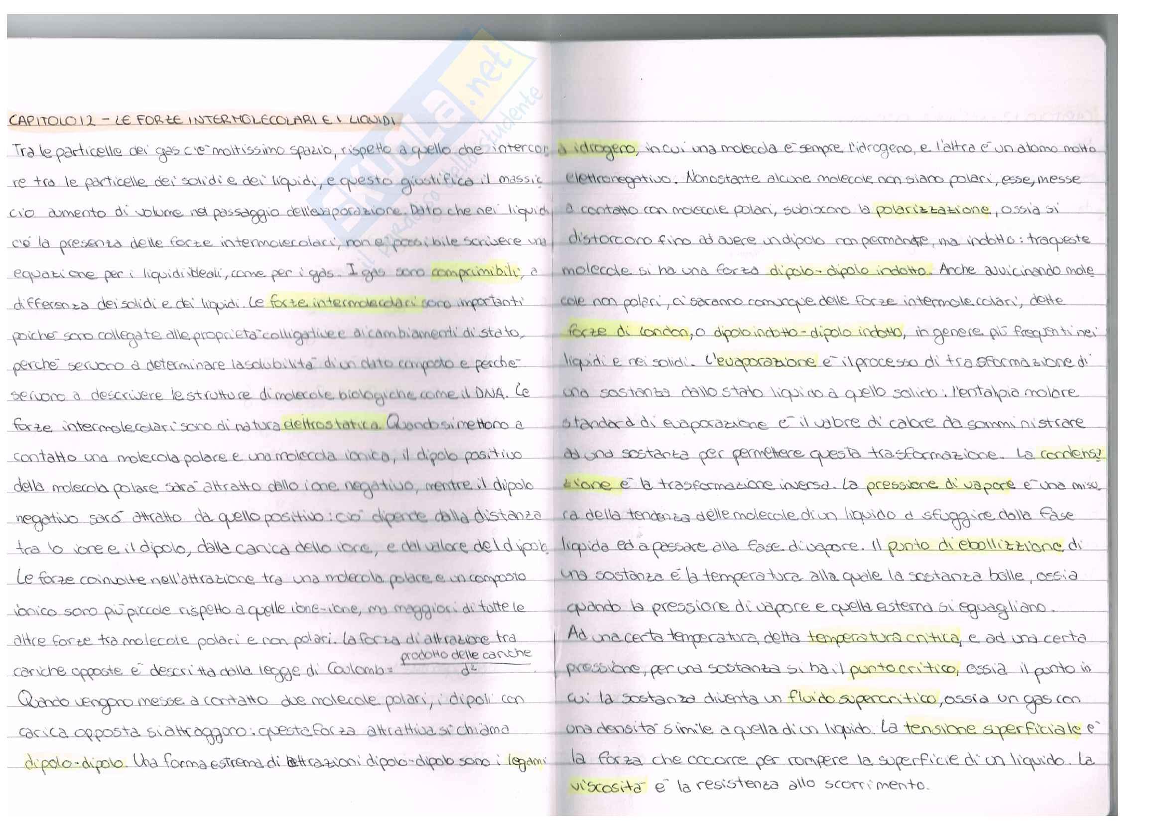 Appunti esame chimica inorganica, prof. Ugo Caruso, libro consigliato Chimica, Kotz Pag. 16