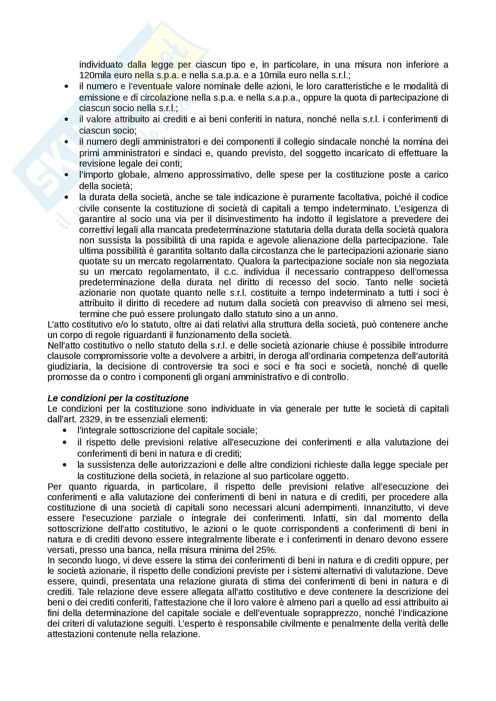 Riassunto esame Diritto Commerciale II, prof. Caterino, libro consigliato Manuale breve, Diritto delle società Pag. 91