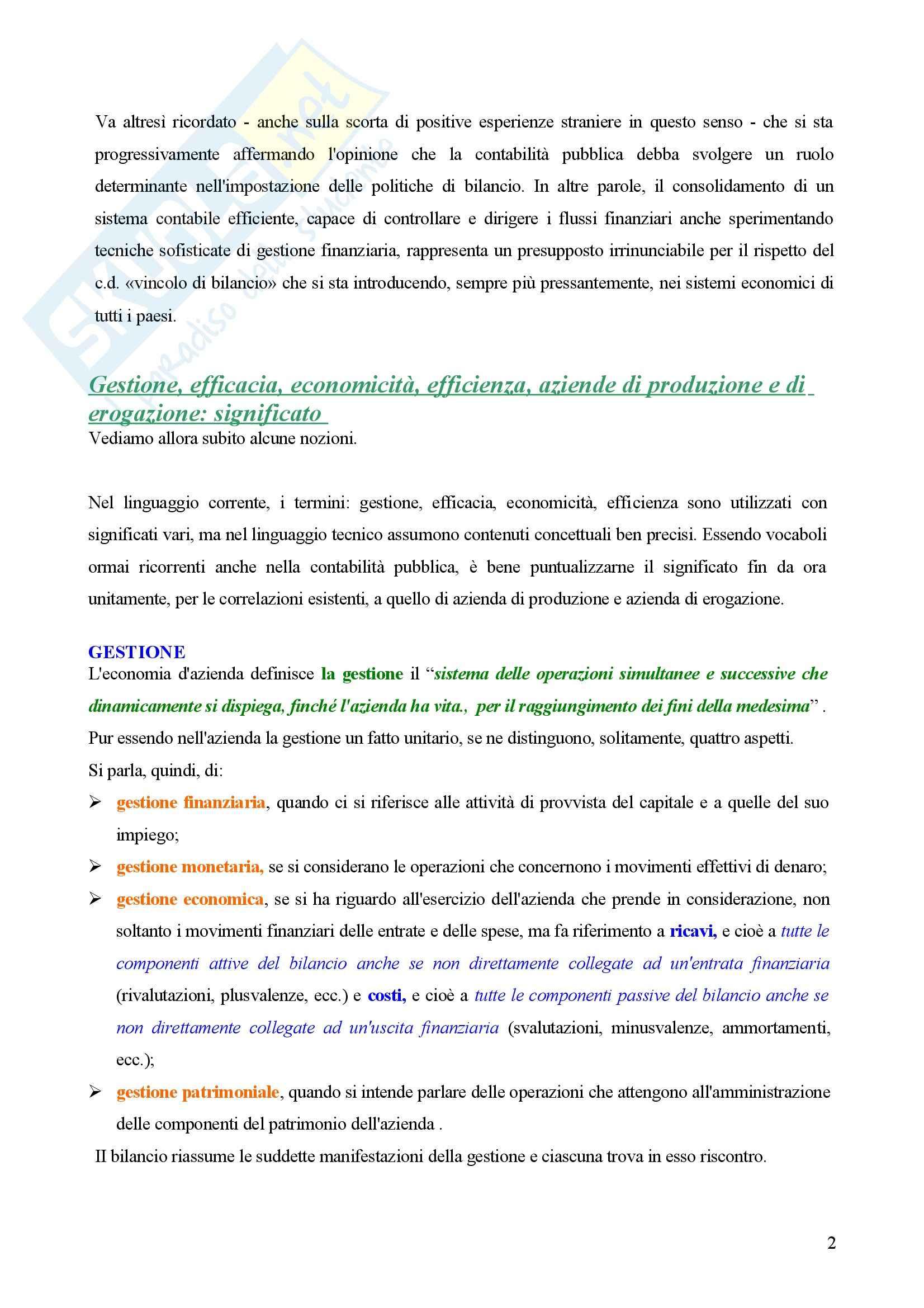 Contabilità pubblica - Compendio Pag. 2
