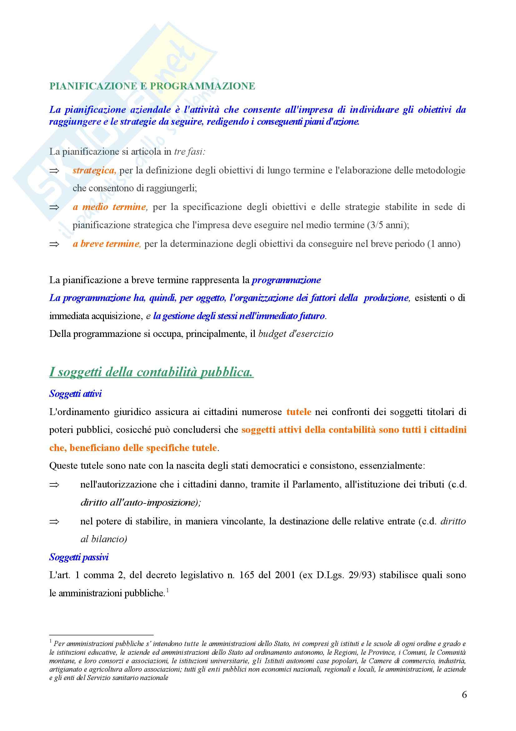Contabilità pubblica - Compendio Pag. 6