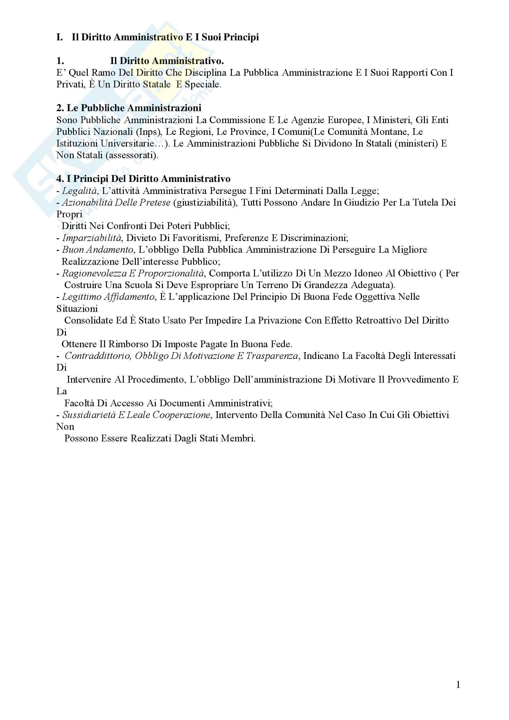 Manuale di diritto amministrativo, Cassese - Appunti