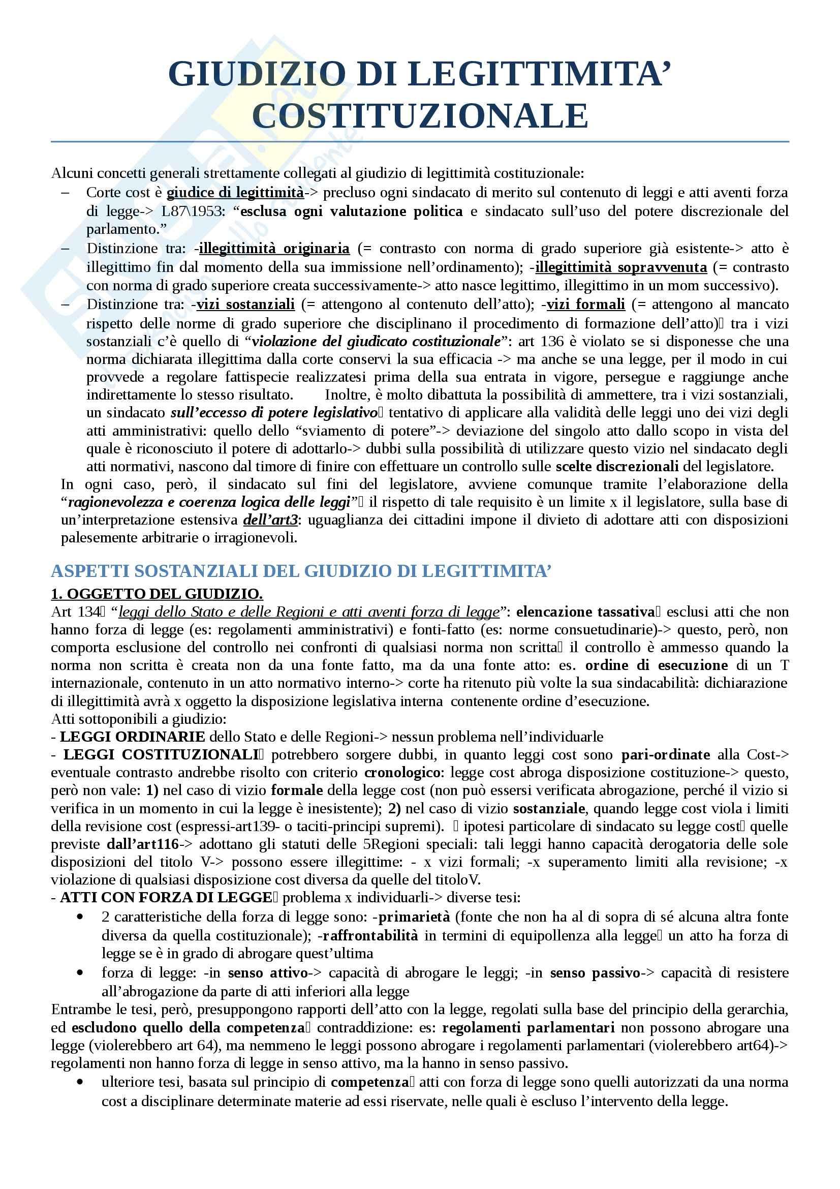 Riassunto esame diritto costituzionale, prof. Cicconetti, testo consigliato Lezioni di Giustizia costituzionale, Cicconetti Pag. 2