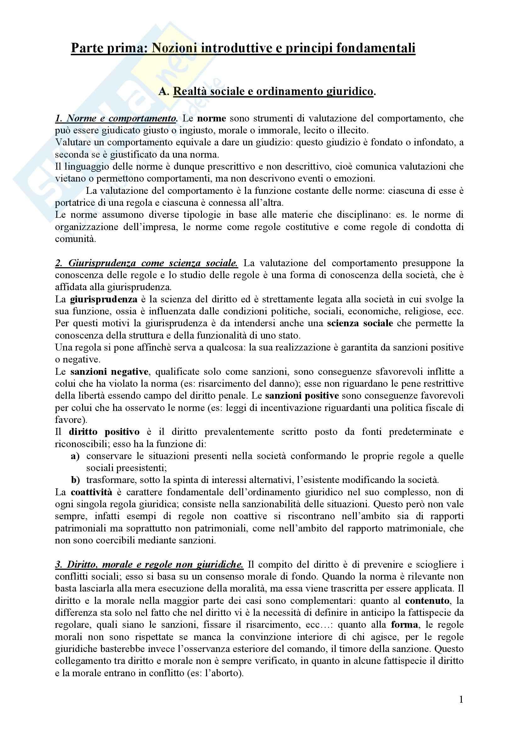 Diritto Civile - Perlingieri – Parte prima – Riassunto esame Pag. 1
