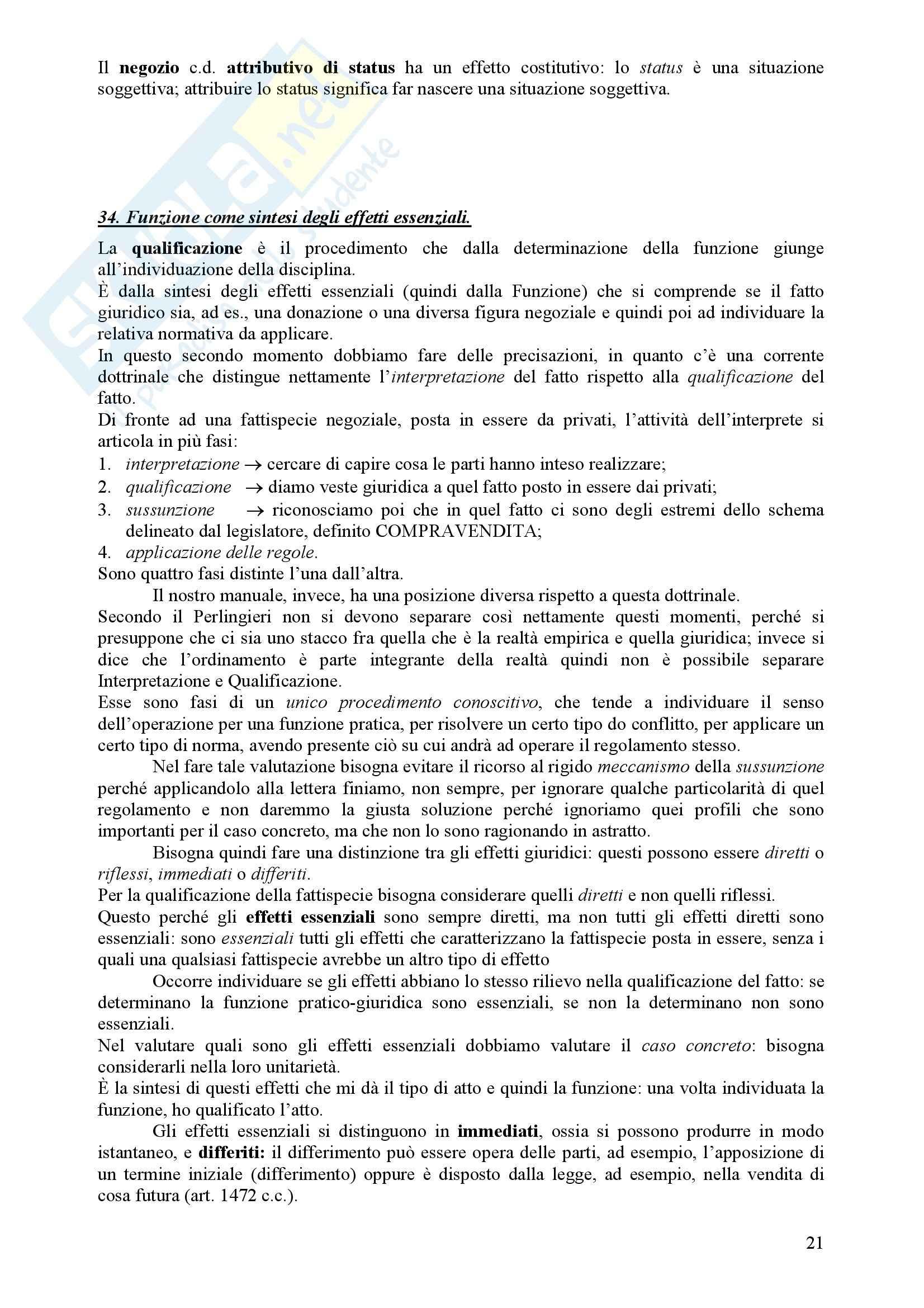 Diritto Civile - Perlingieri – Parte prima – Riassunto esame Pag. 21