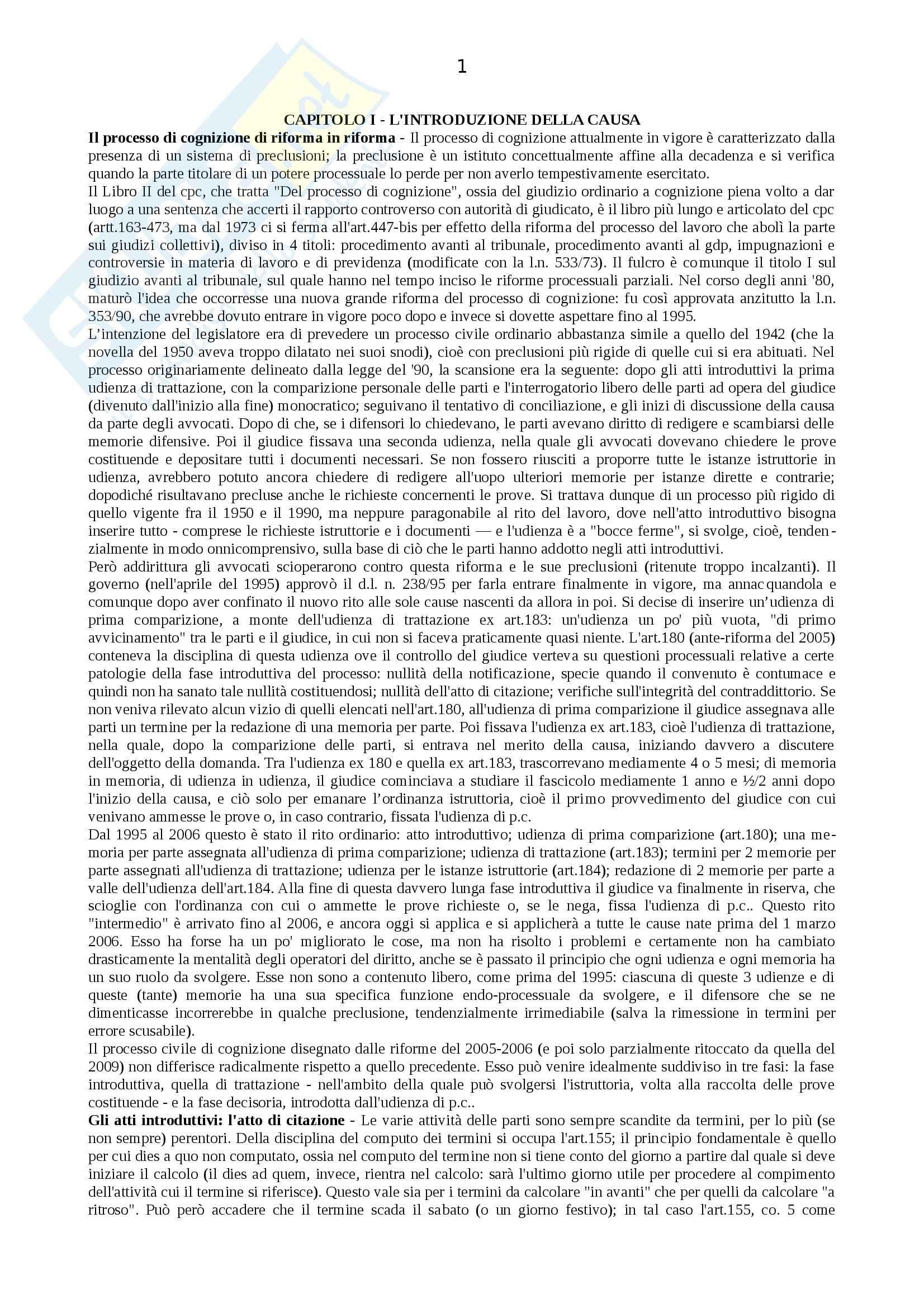 Riassunto esame Procedura Civile, prof. Auletta, libro consigliato Manuale di Procedura Civile, Consolo