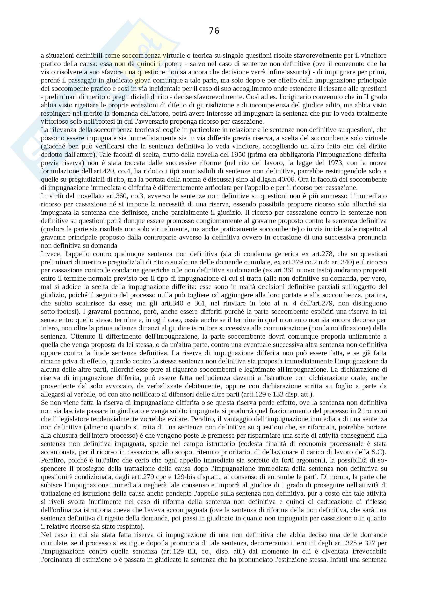 Riassunto esame Procedura Civile, prof. Auletta, libro consigliato Manuale di Procedura Civile, Consolo Pag. 76