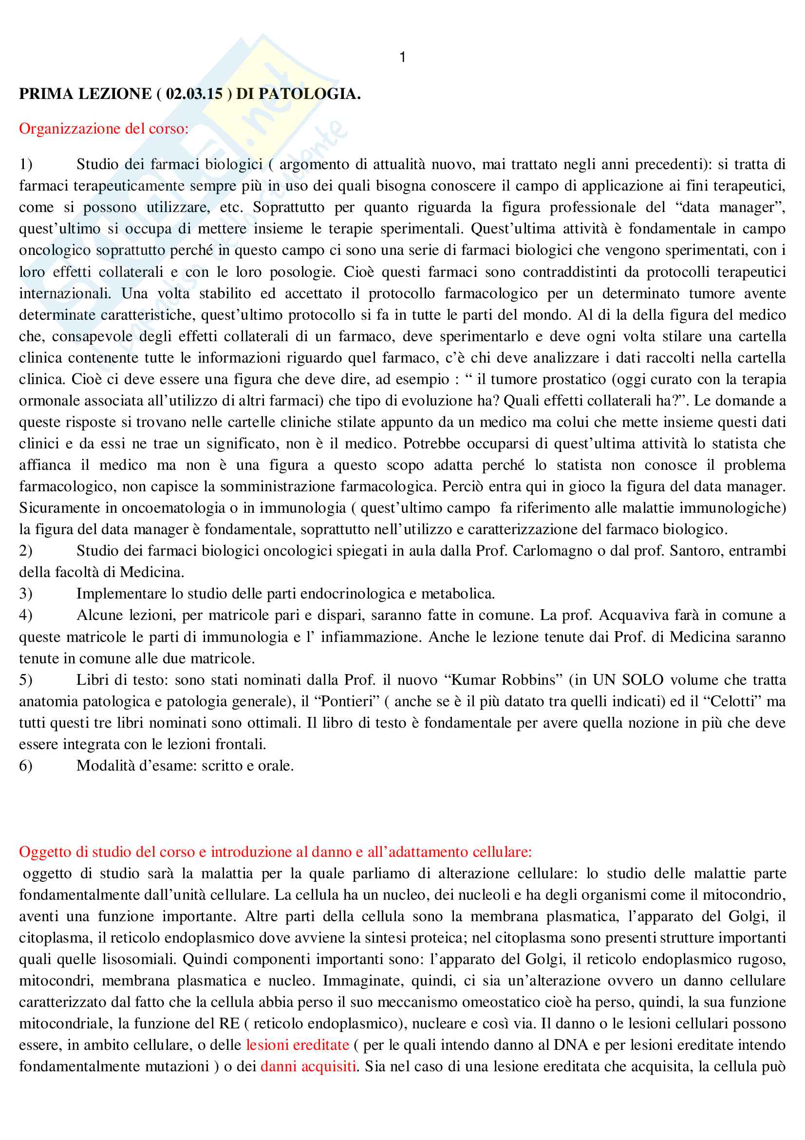 Patologia generale Pag. 2
