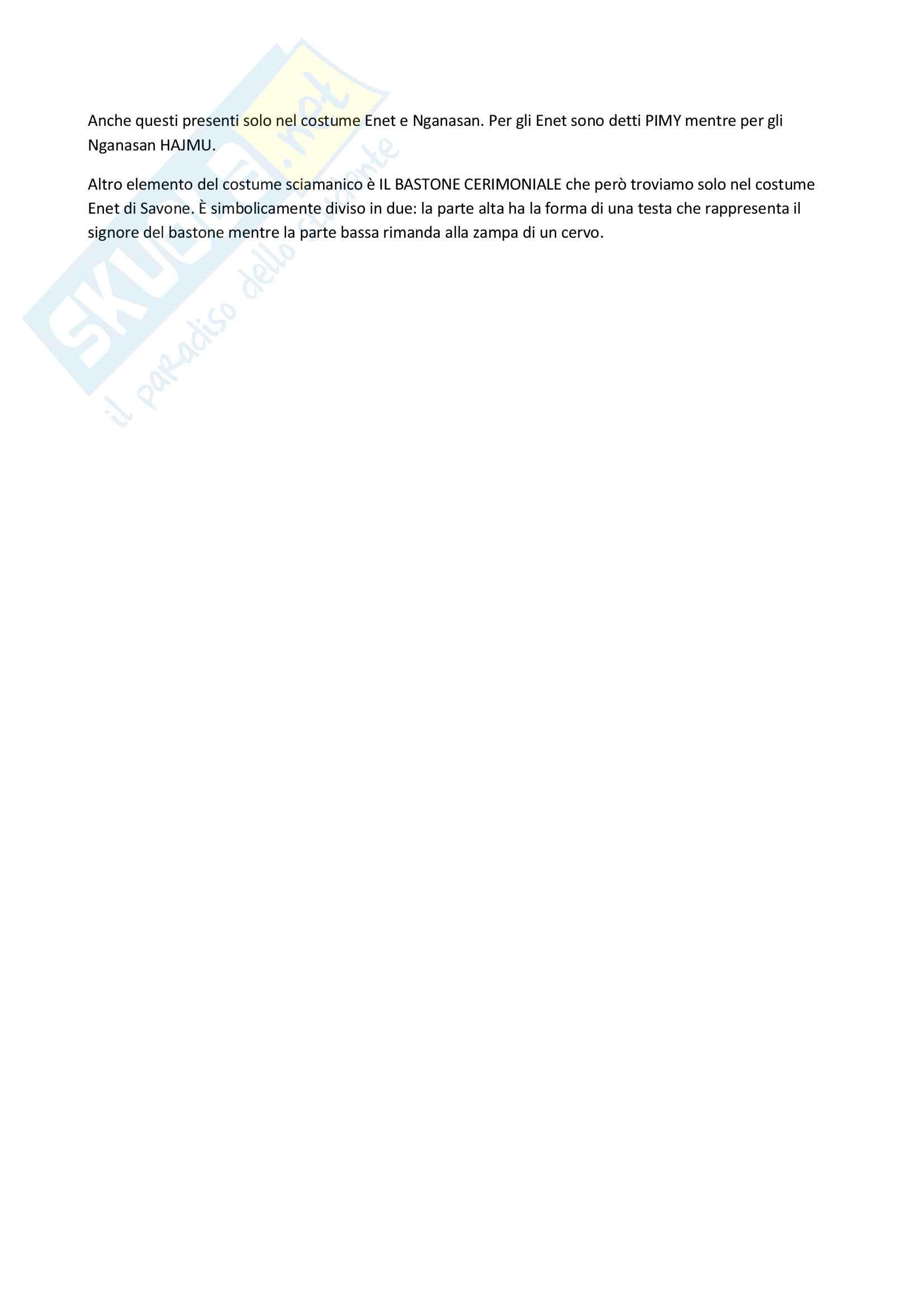 Riassunto per Simbologia del vestire, Prof. Saggioro, libro consigliato Abiti sciamanici, W. Montanari Pag. 6