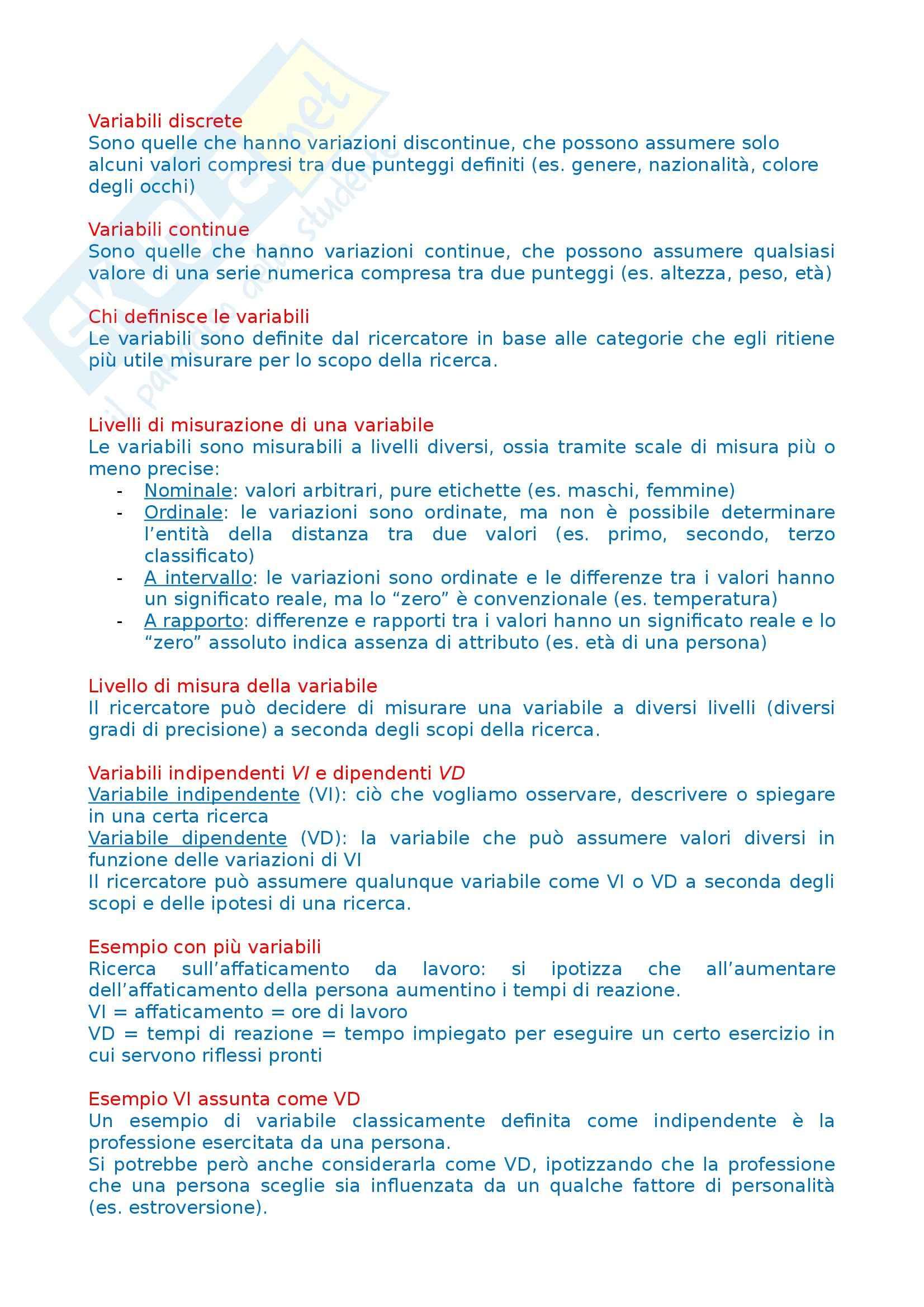 Tecniche dell'intervista e del questionario - Esercitazione Pag. 11