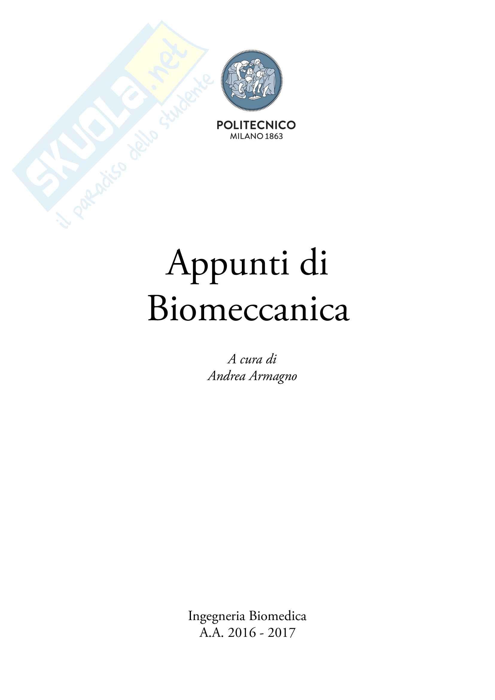 Biomeccanica (Appunti)