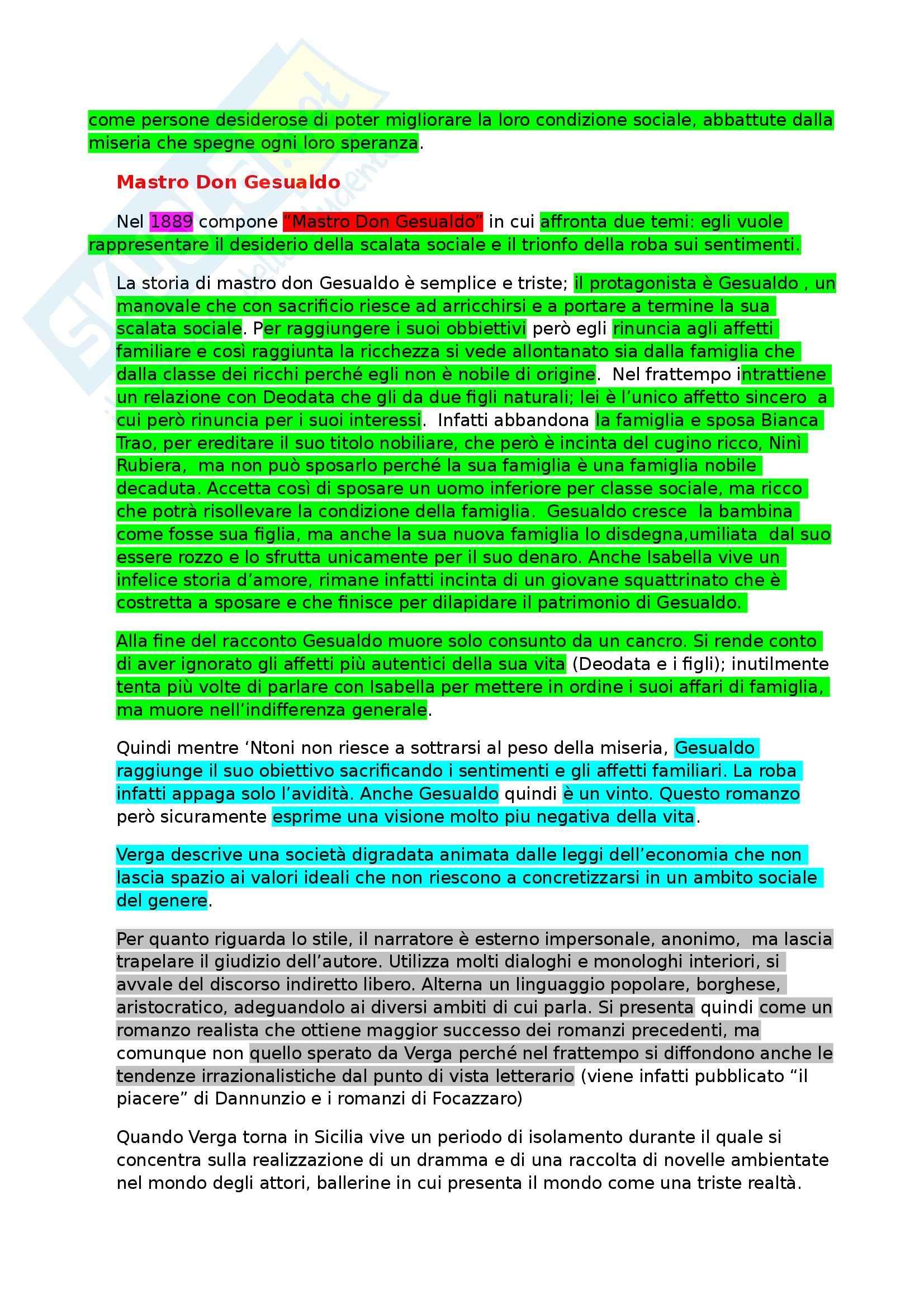 Letteratura italiana - Verga Pag. 6