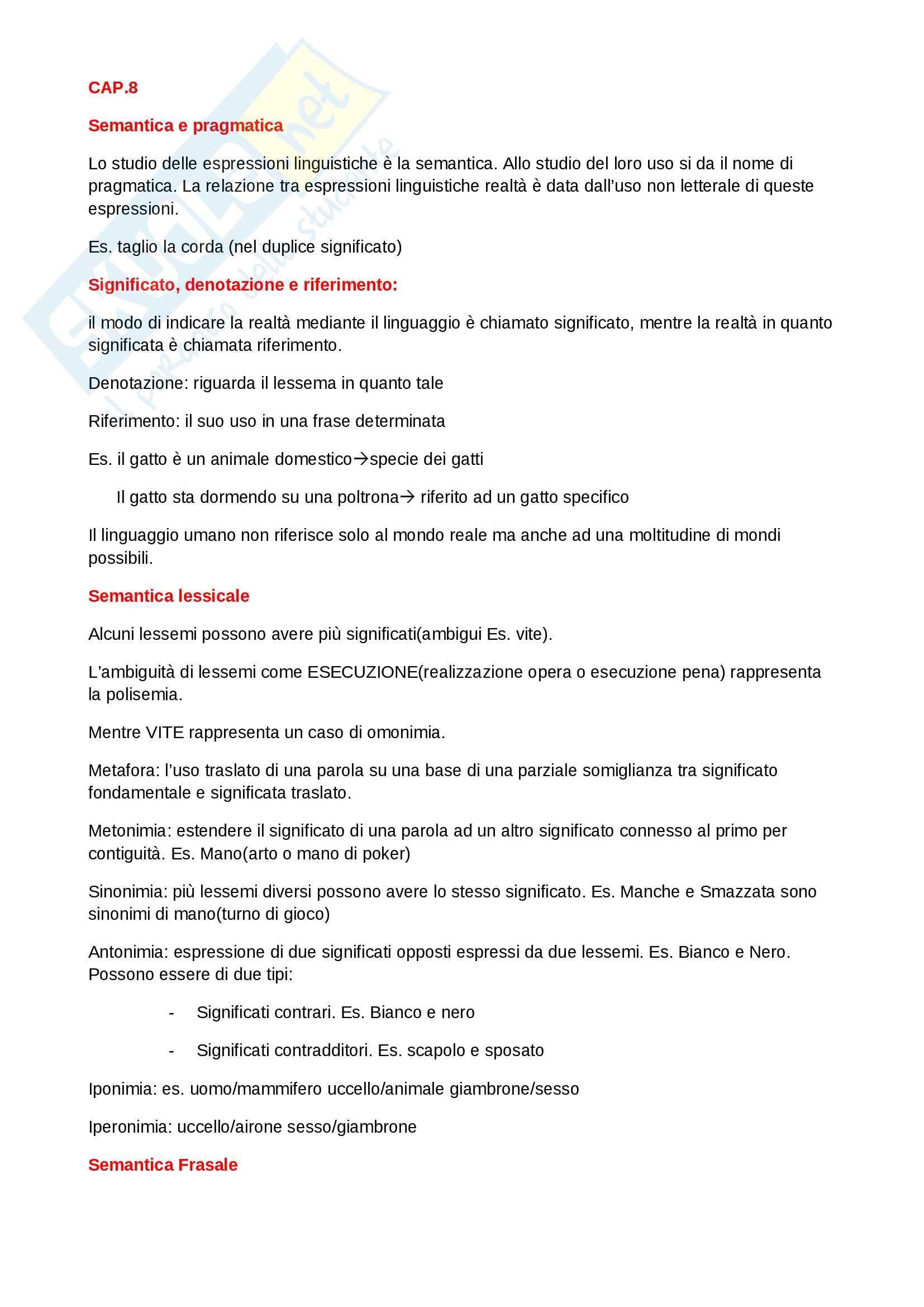 Riassunto esame linguistica generale, prof. indefinito, libro consigliato Le lingue e il linguaggio, Graffi, Scalise