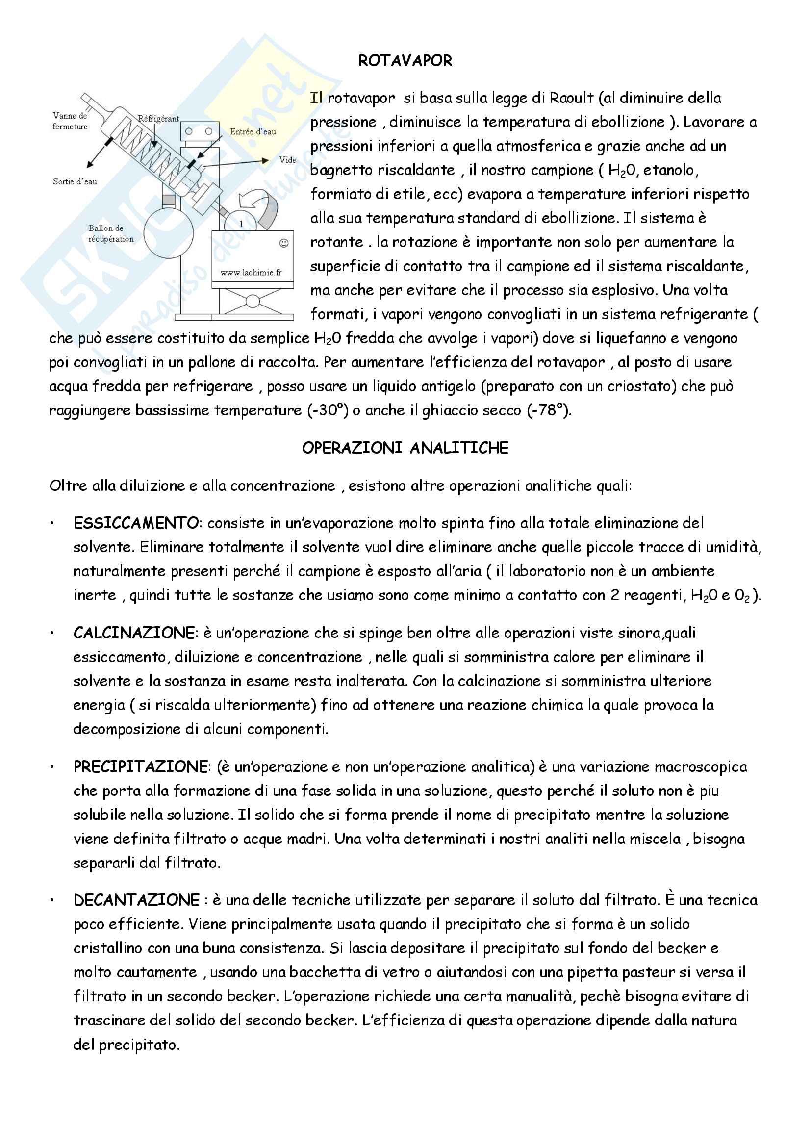 Appunti di Analisi chimico-farmaceutica II