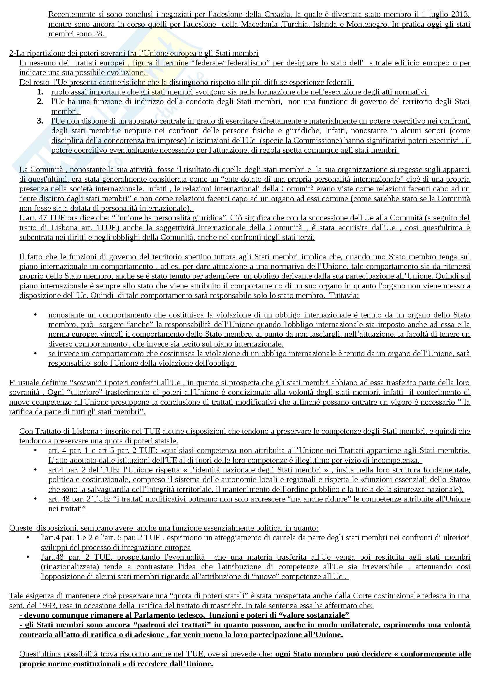 Riassunto esame Diritto dell'Unione Europea, prof. Adinolfi Pag. 2