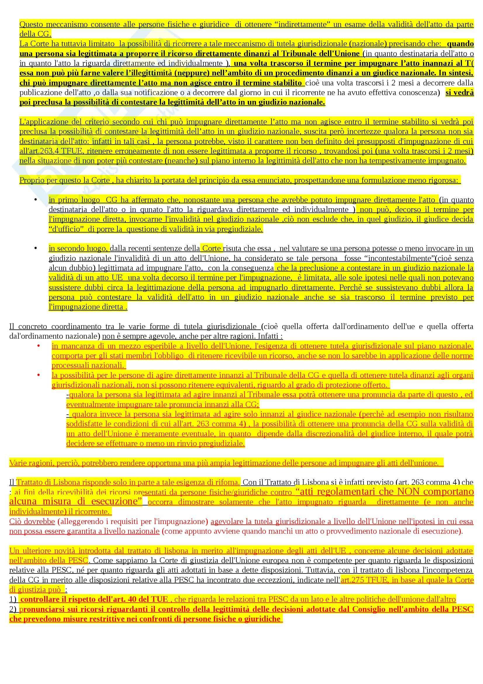 Riassunto esame Diritto dell'Unione Europea, prof. Adinolfi Pag. 21