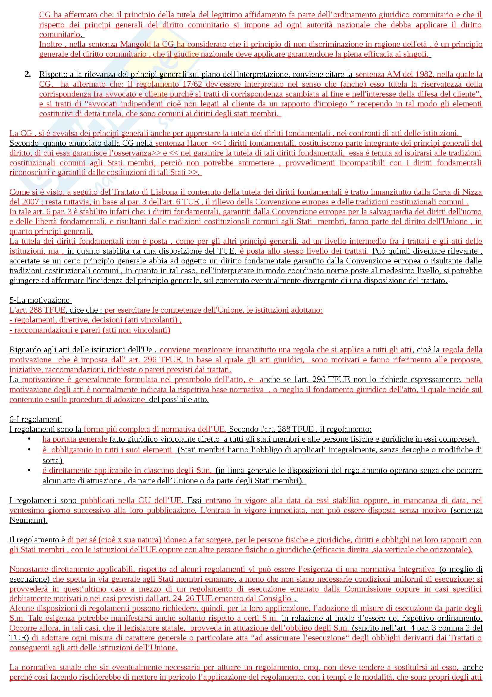 Riassunto esame Diritto dell'Unione Europea, prof. Adinolfi Pag. 41