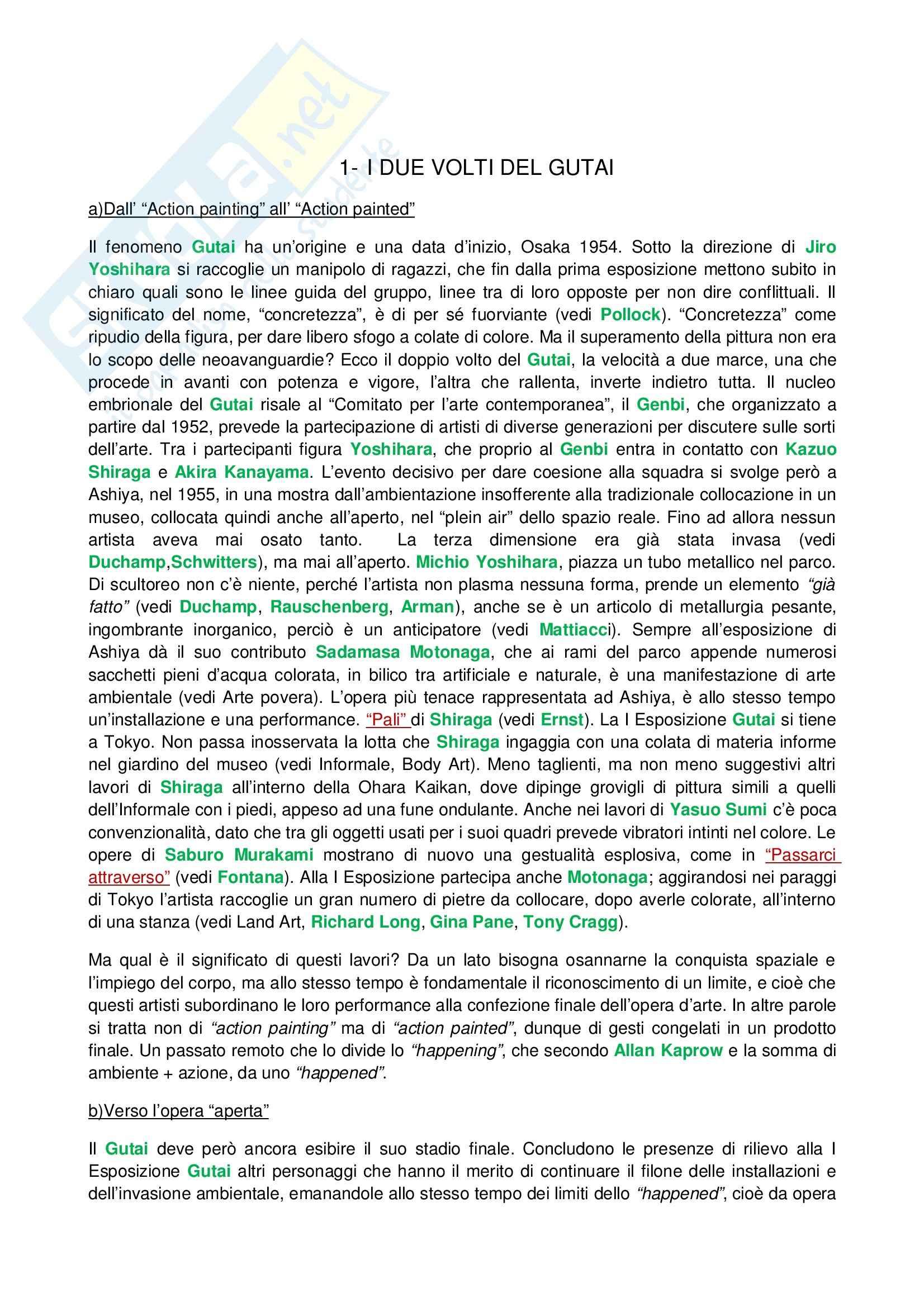 Riassunto esame Tecniche dell'Arte Contemporanea, prof. Fabbri, libro consigliato Lo Zen e il Manga