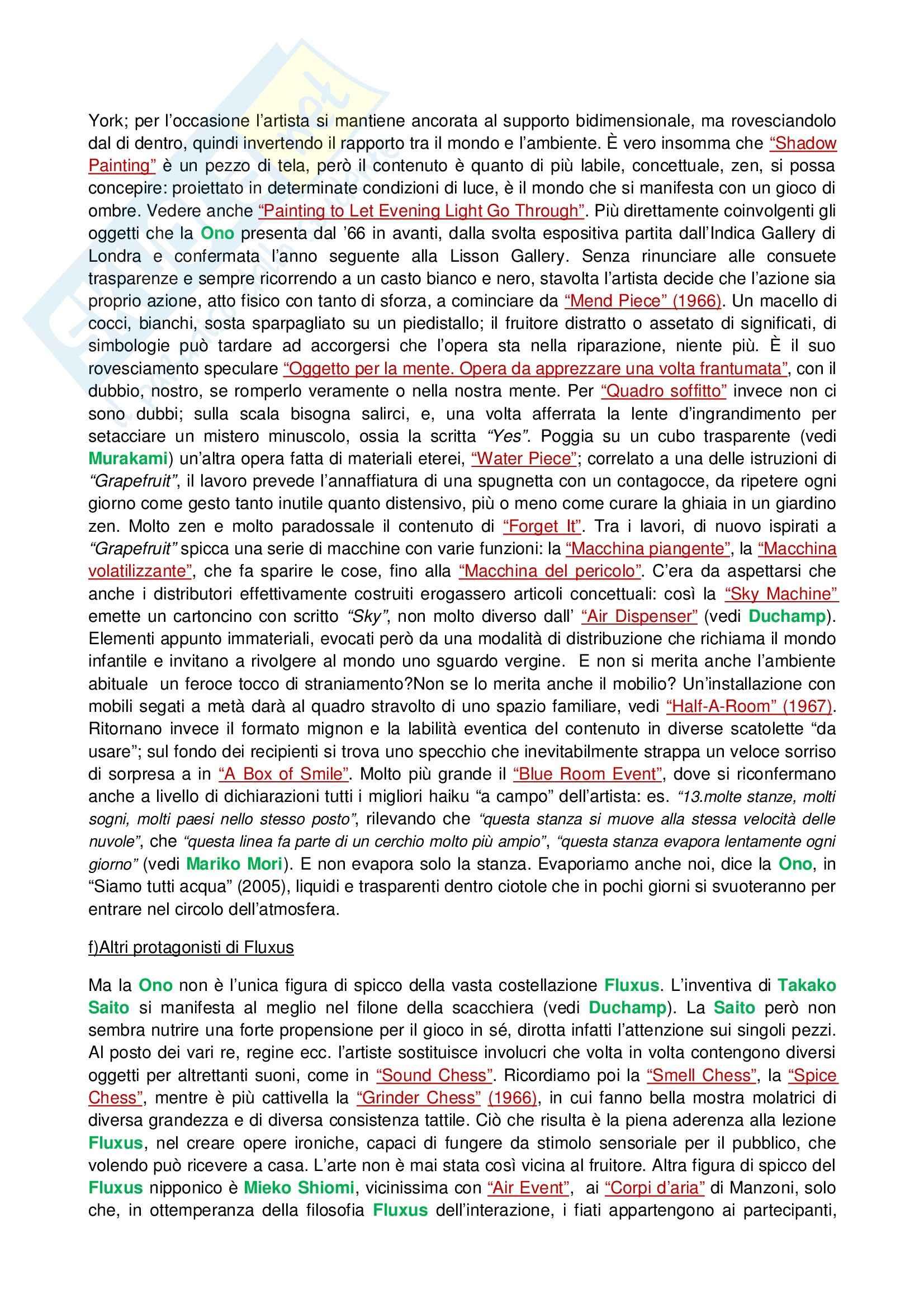 Riassunto esame Tecniche dell'Arte Contemporanea, prof. Fabbri, libro consigliato Lo Zen e il Manga Pag. 11