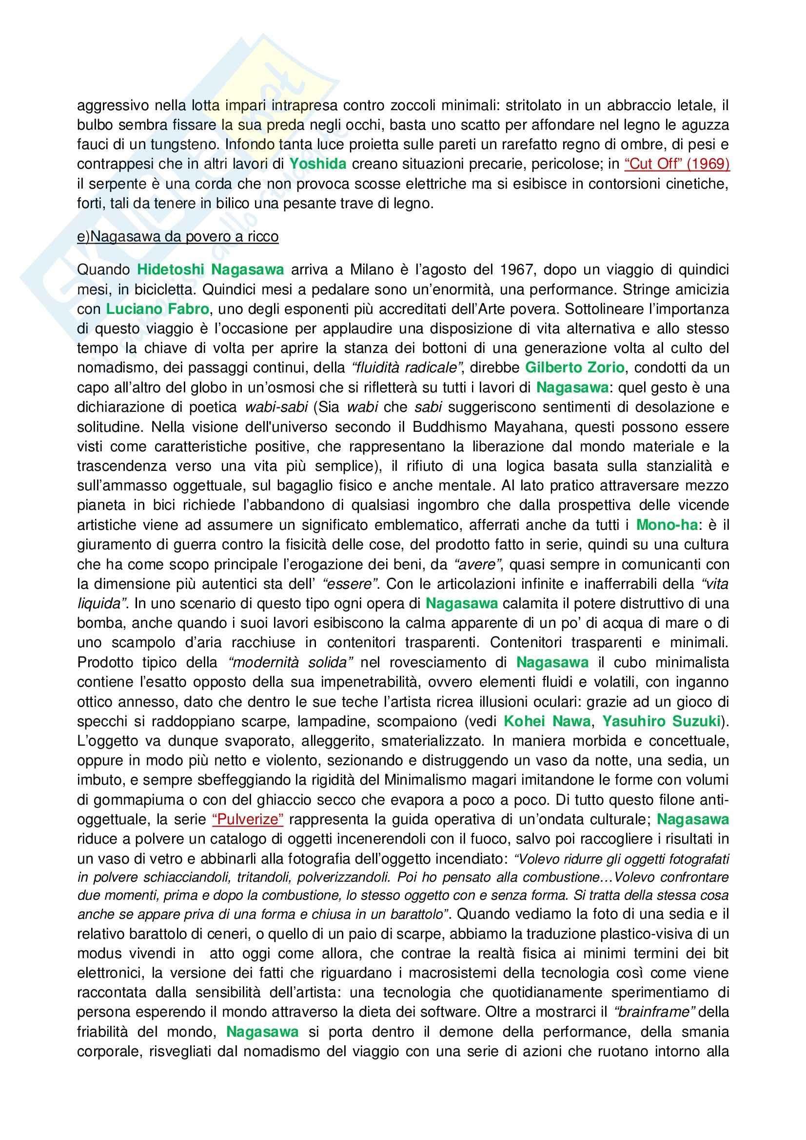 Riassunto esame Tecniche dell'Arte Contemporanea, prof. Fabbri, libro consigliato Lo Zen e il Manga Pag. 16