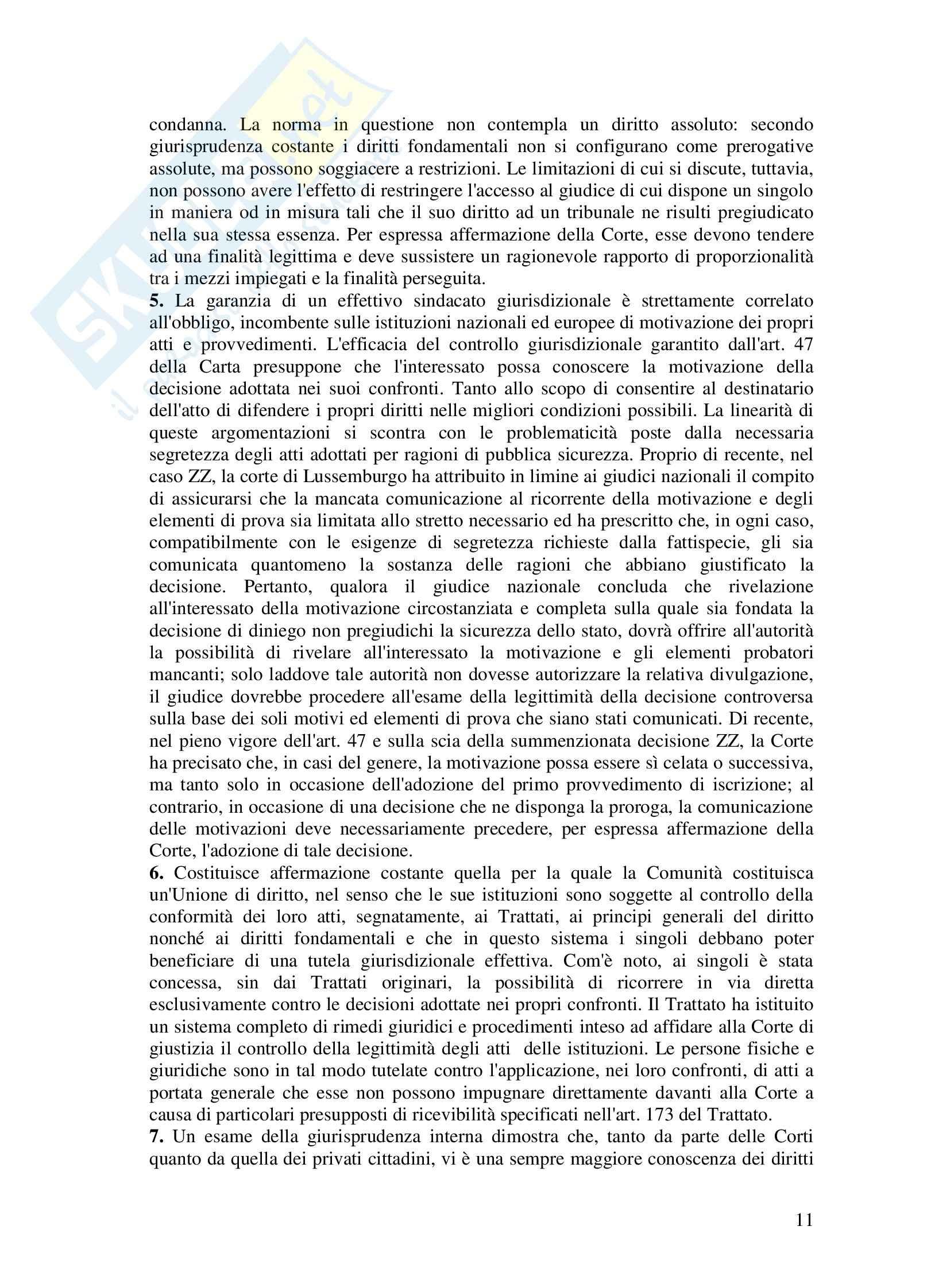 Riassunto esame Diritto dell'UE, prof. Di Stasi, Spazio europeo e diritti di giustizia Pag. 11