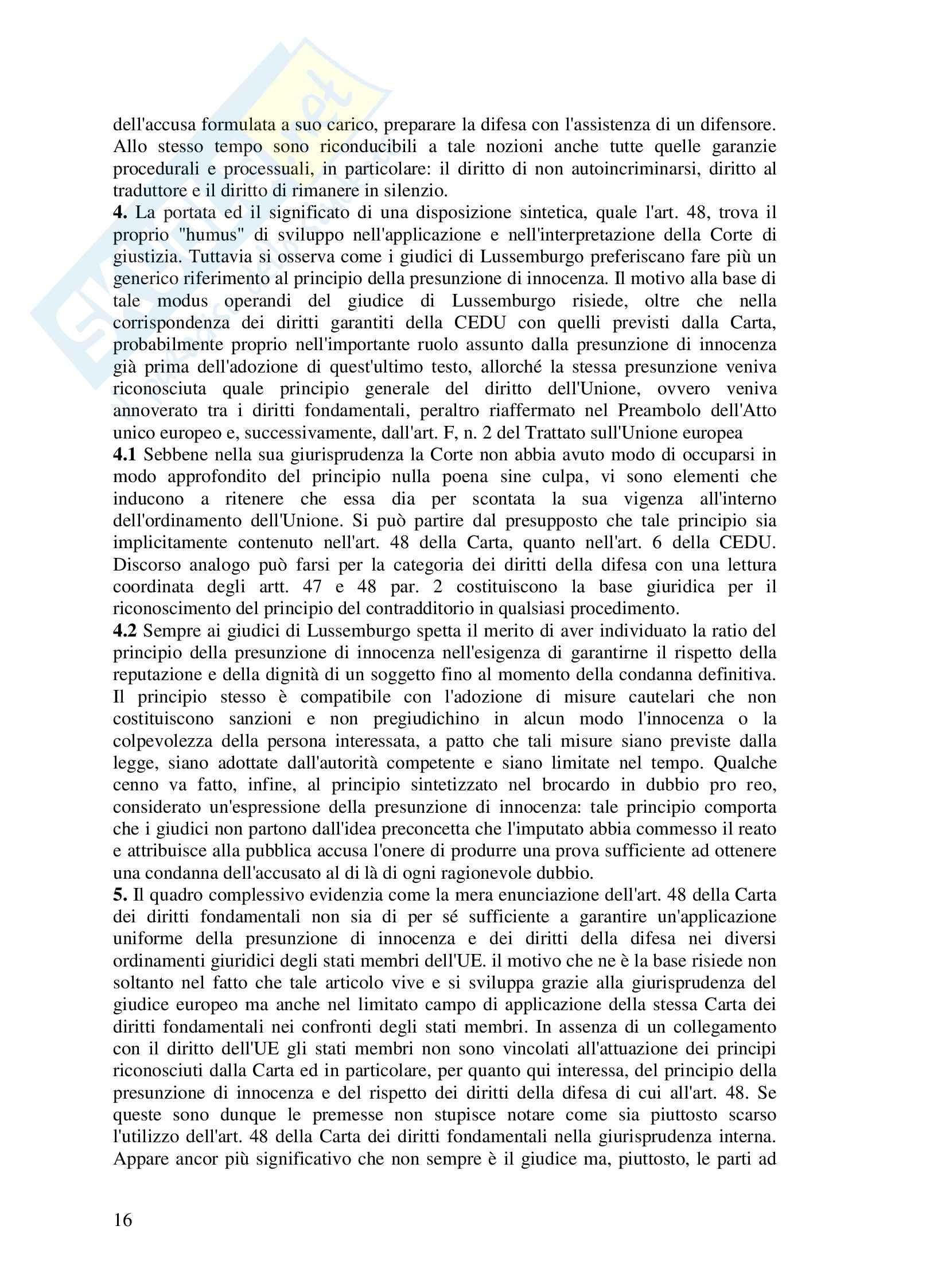 Riassunto esame Diritto dell'UE, prof. Di Stasi, Spazio europeo e diritti di giustizia Pag. 16