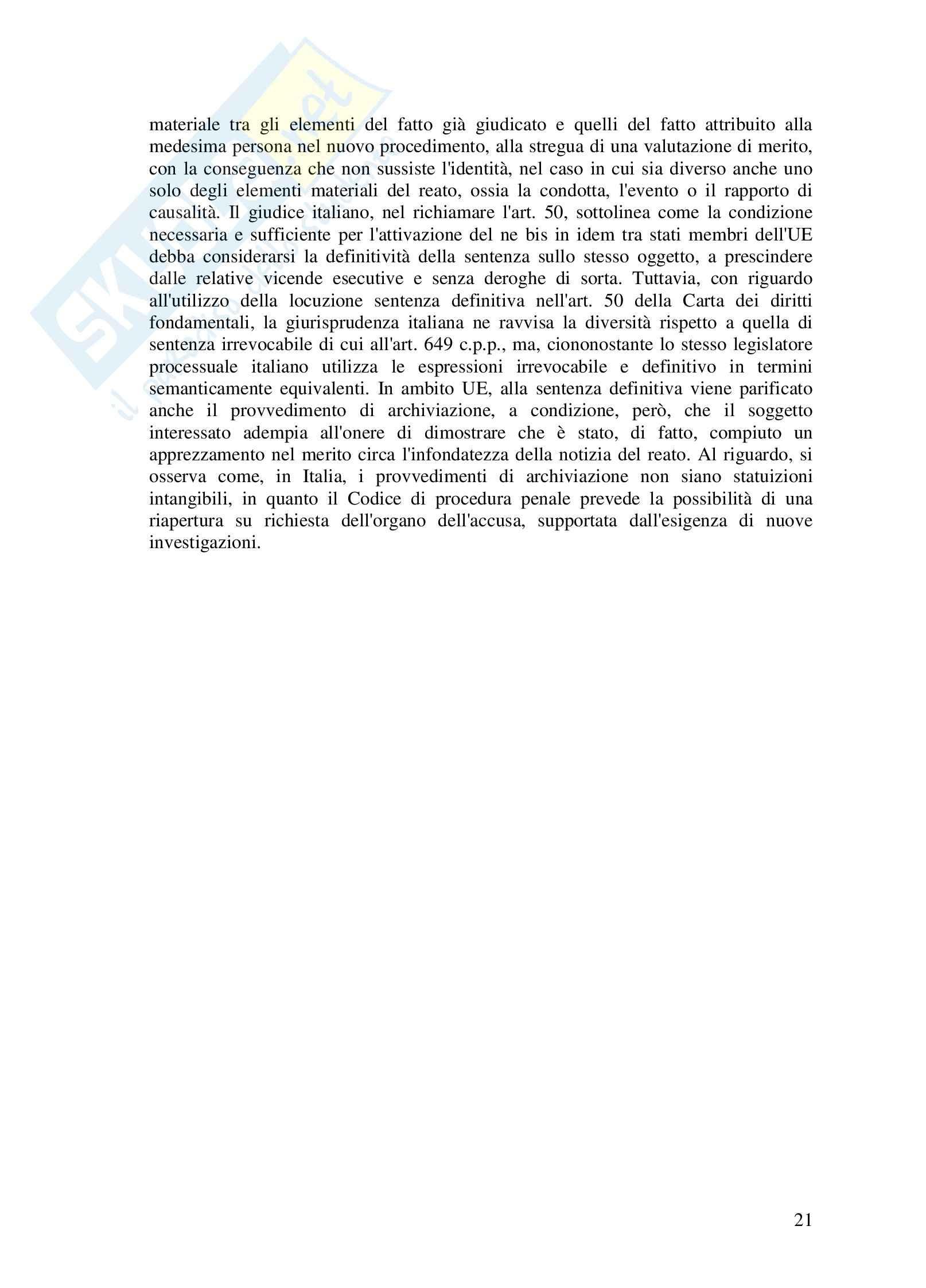 Riassunto esame Diritto dell'UE, prof. Di Stasi, Spazio europeo e diritti di giustizia Pag. 21