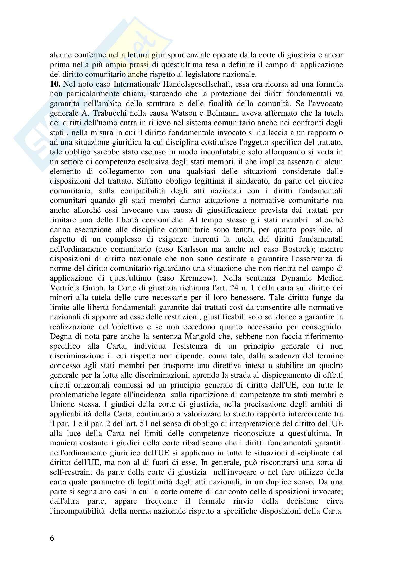 Riassunto esame Diritto dell'UE, prof. Di Stasi, Spazio europeo e diritti di giustizia Pag. 6