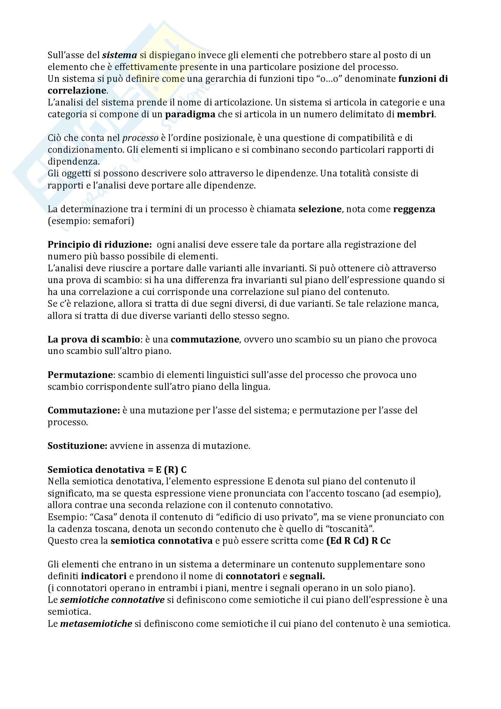 Riassunto esame Semiotica del testo, prof. Bartezzaghi, libro consigliato Le basi della semiotica, Traini Pag. 6