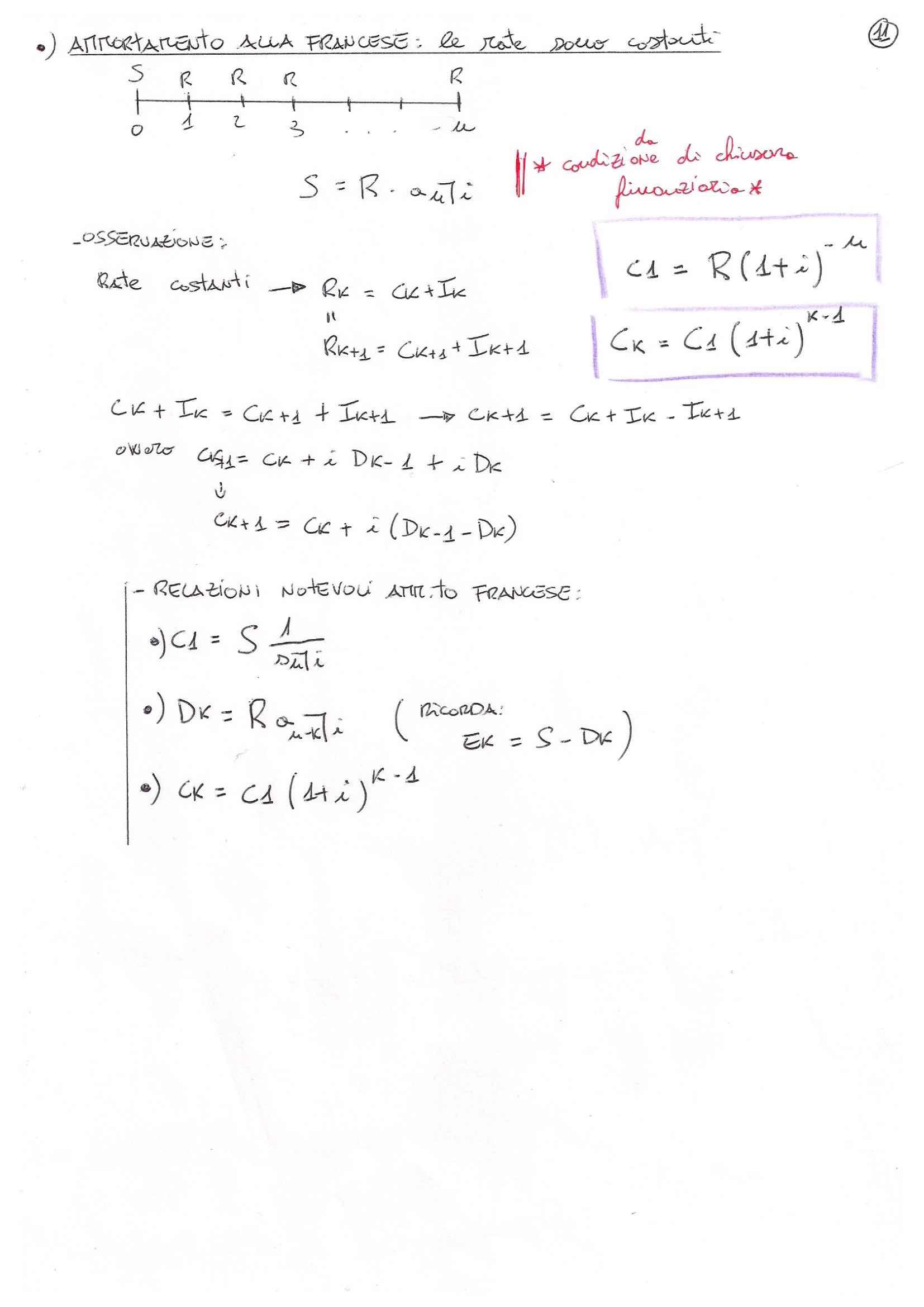 Matematica finanziaria - formulario Pag. 11