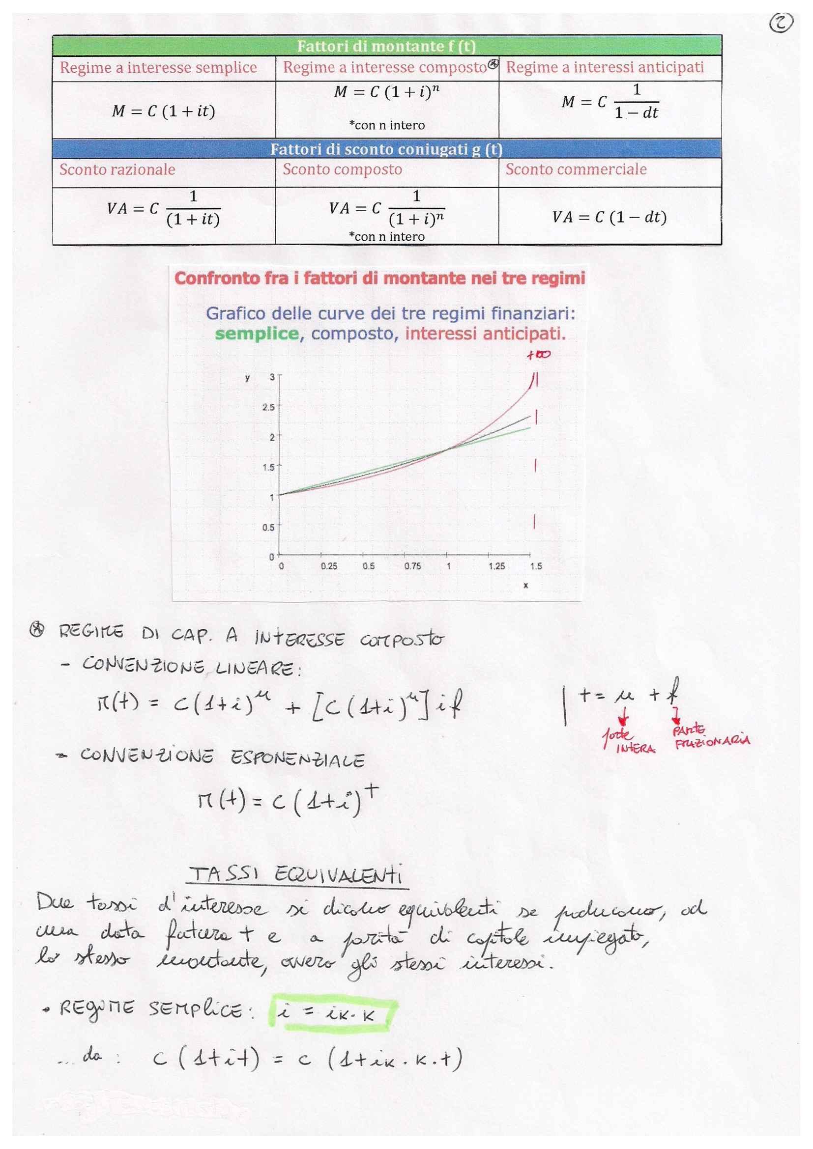 Matematica finanziaria - formulario Pag. 2