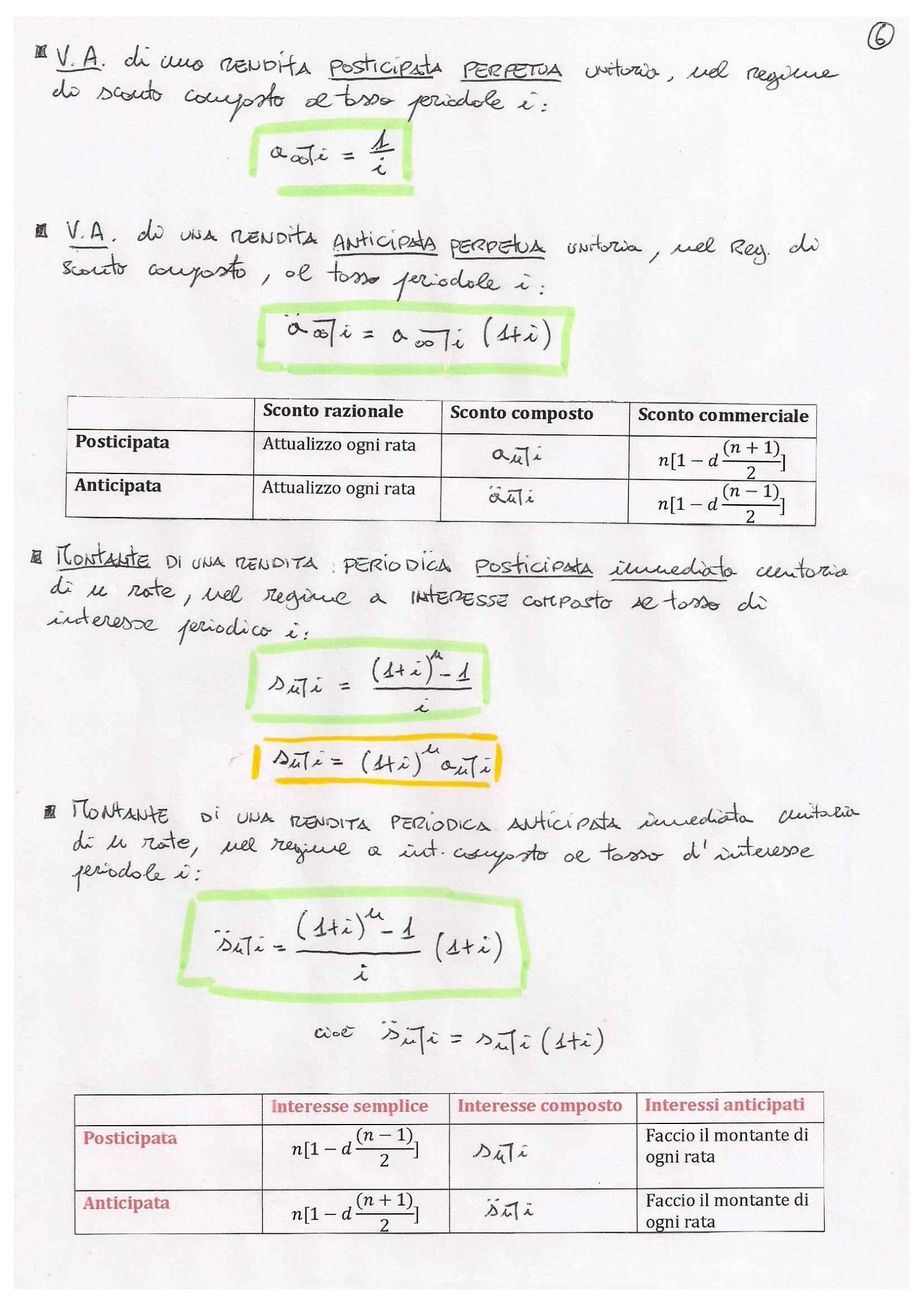 Matematica finanziaria - formulario Pag. 6