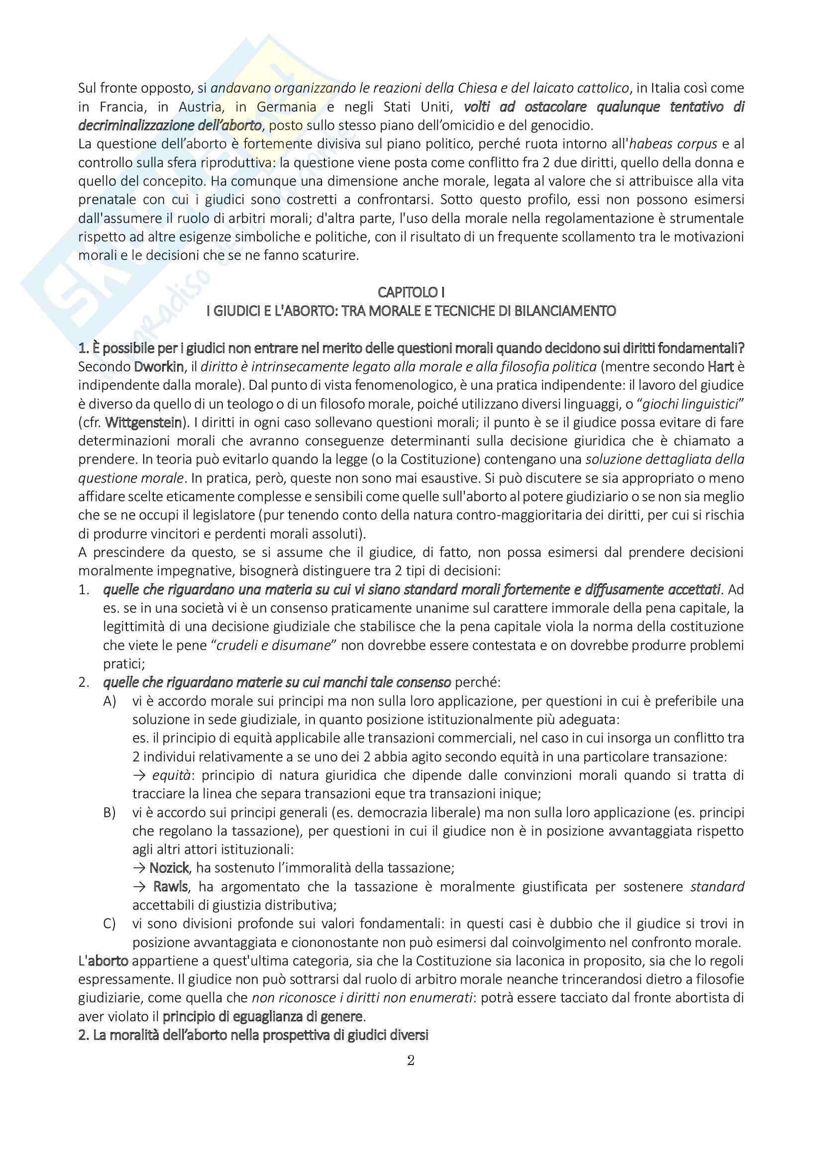 Riassunto esame Diritto pubblico comparato, prof. Mancini, libro consigliato Un affare di donne Pag. 2