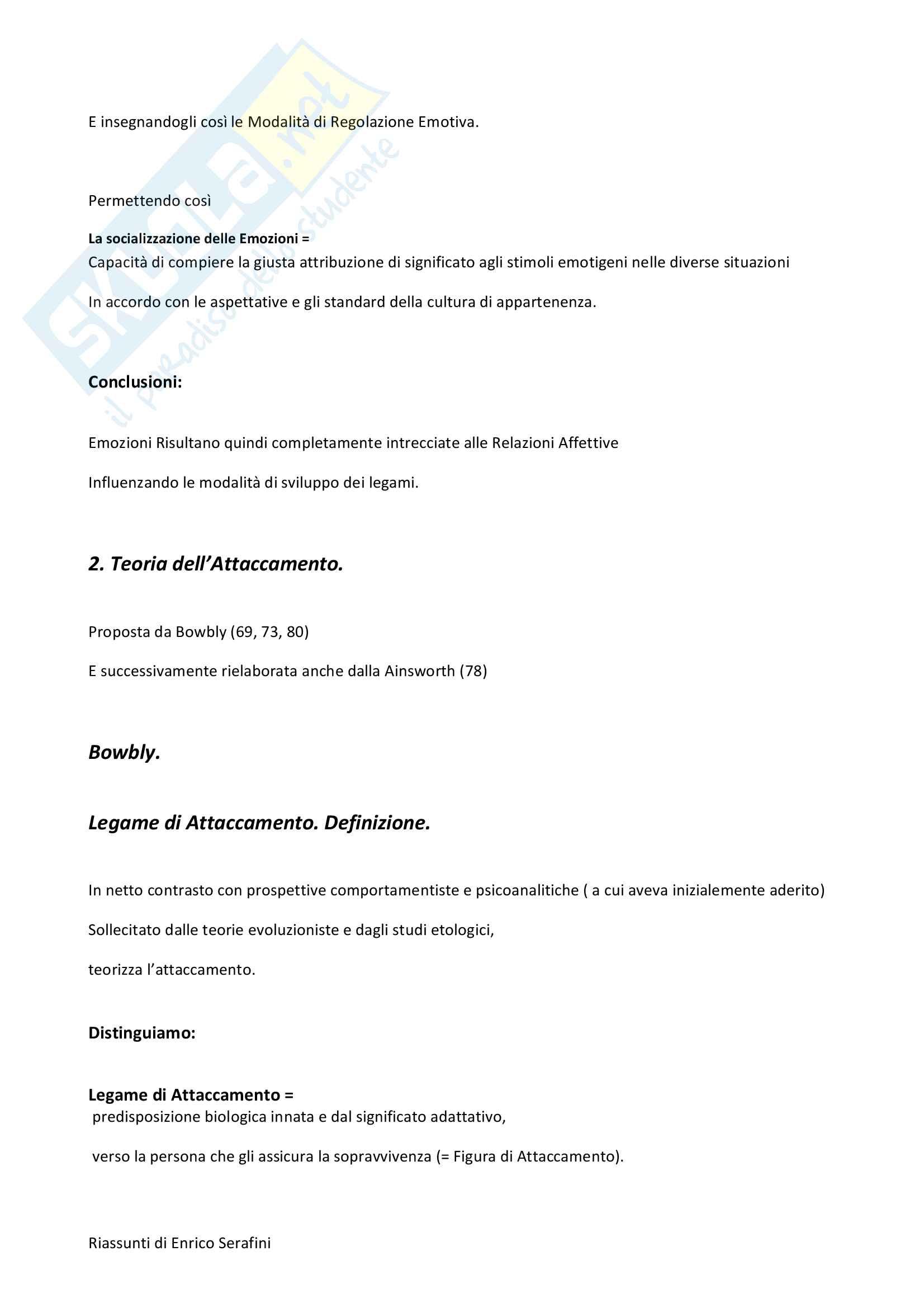 Riassunto esame Psicologia dello Sviluppo, docente Di Blasio, libro consigliato Psicologia dello Sviluppo, Camaioni e Di Blasio Pag. 61