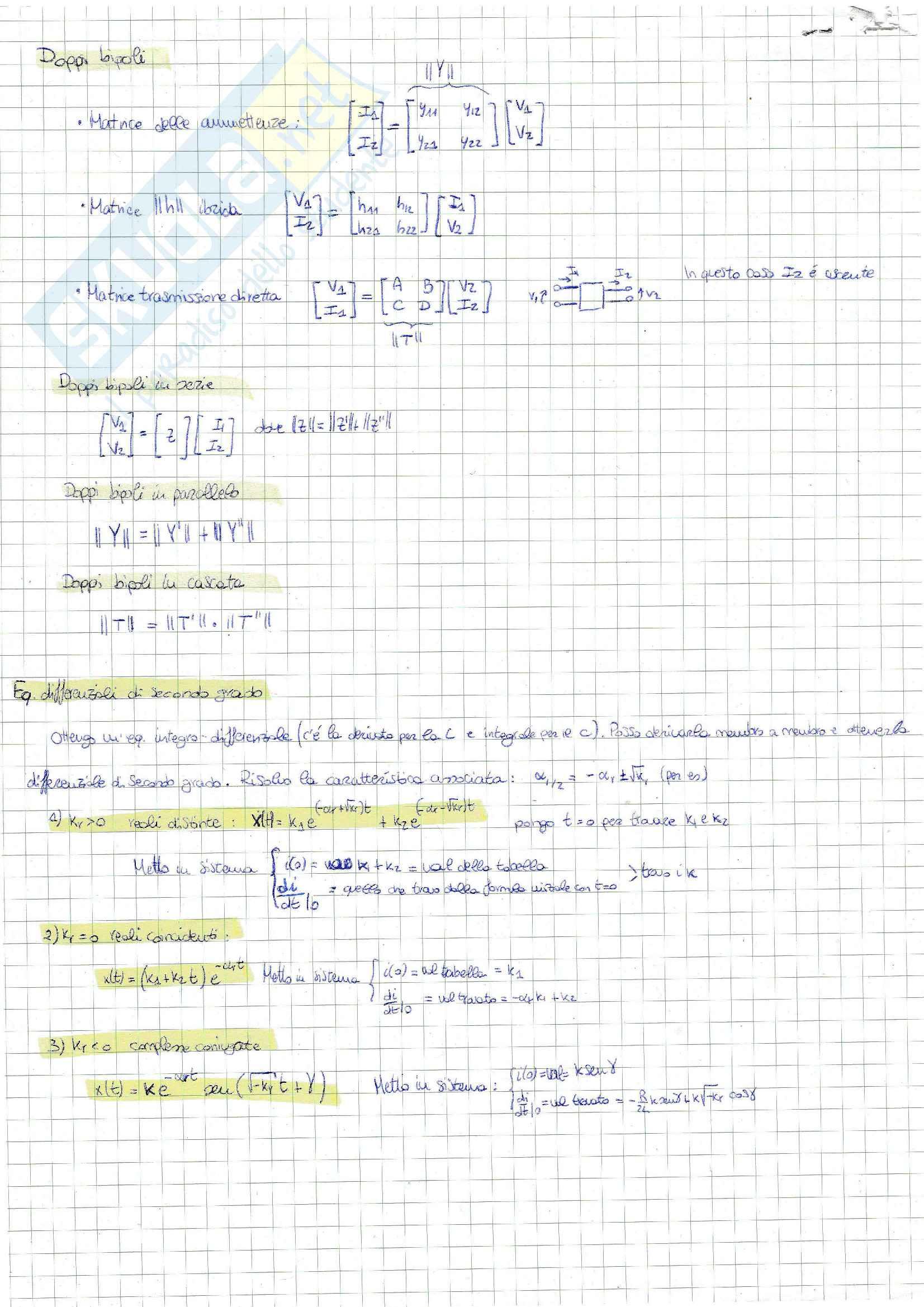 Elettrotecnica: Formulario per ogni tipo esercizio di esame Pag. 6
