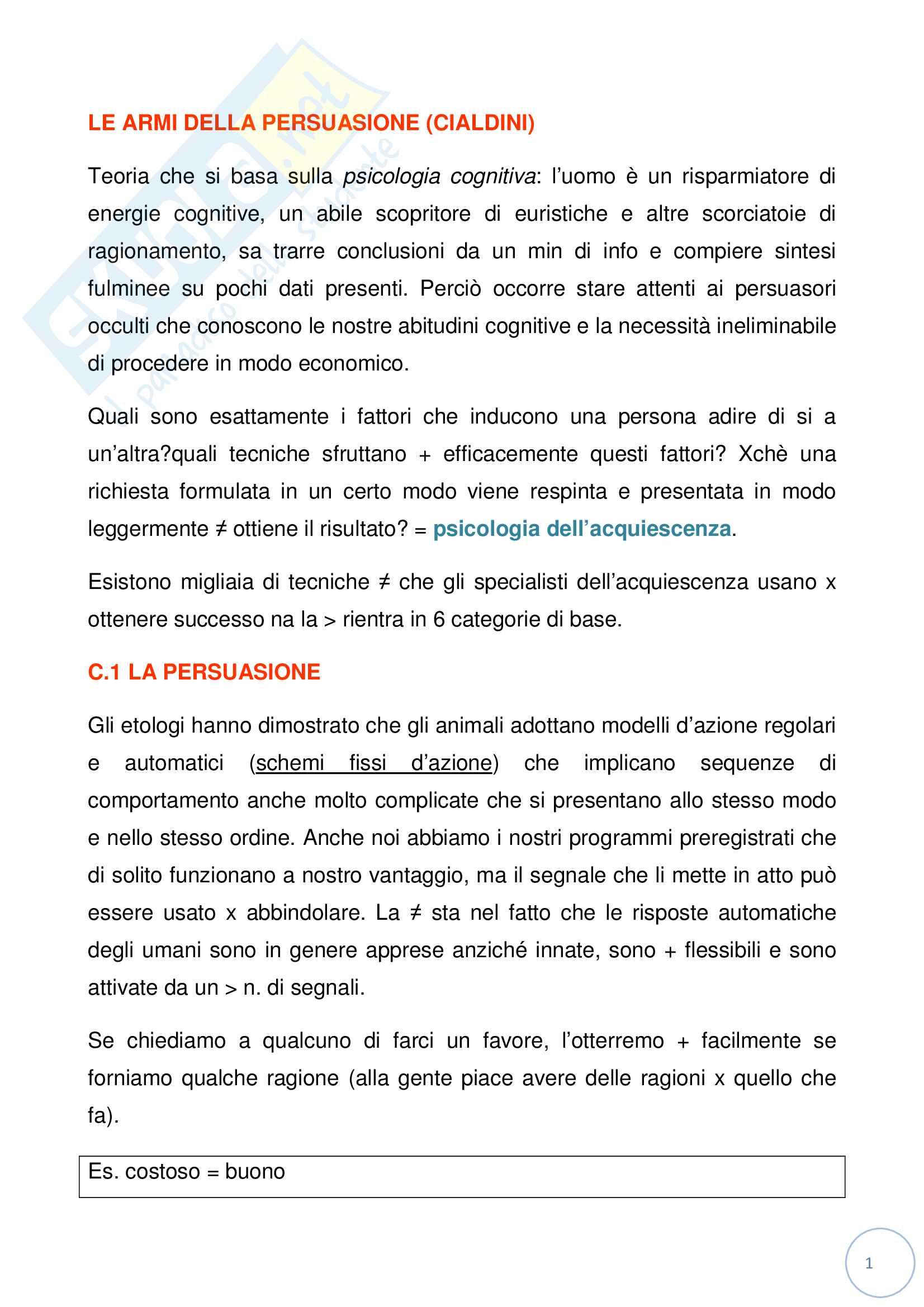 appunto A. Rossati Psicologia sociale