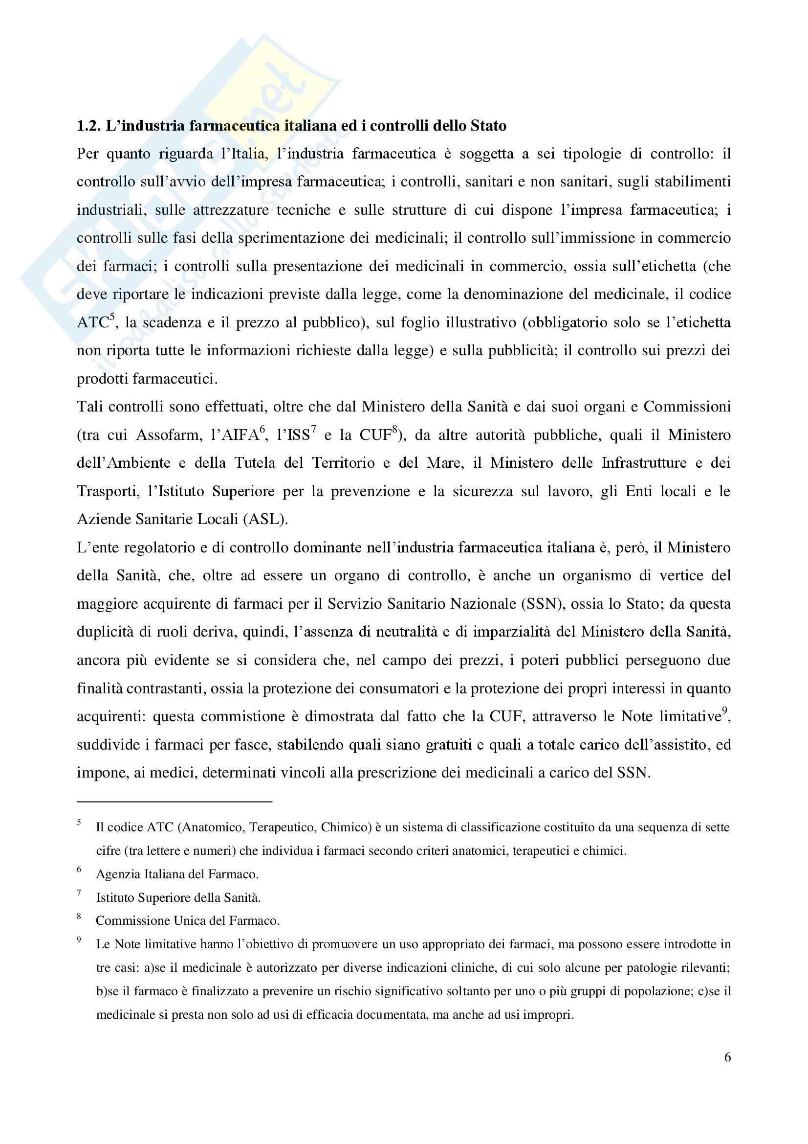 Tesi - Il lancio di nuovi prodotti nel mercato pharma Pag. 6