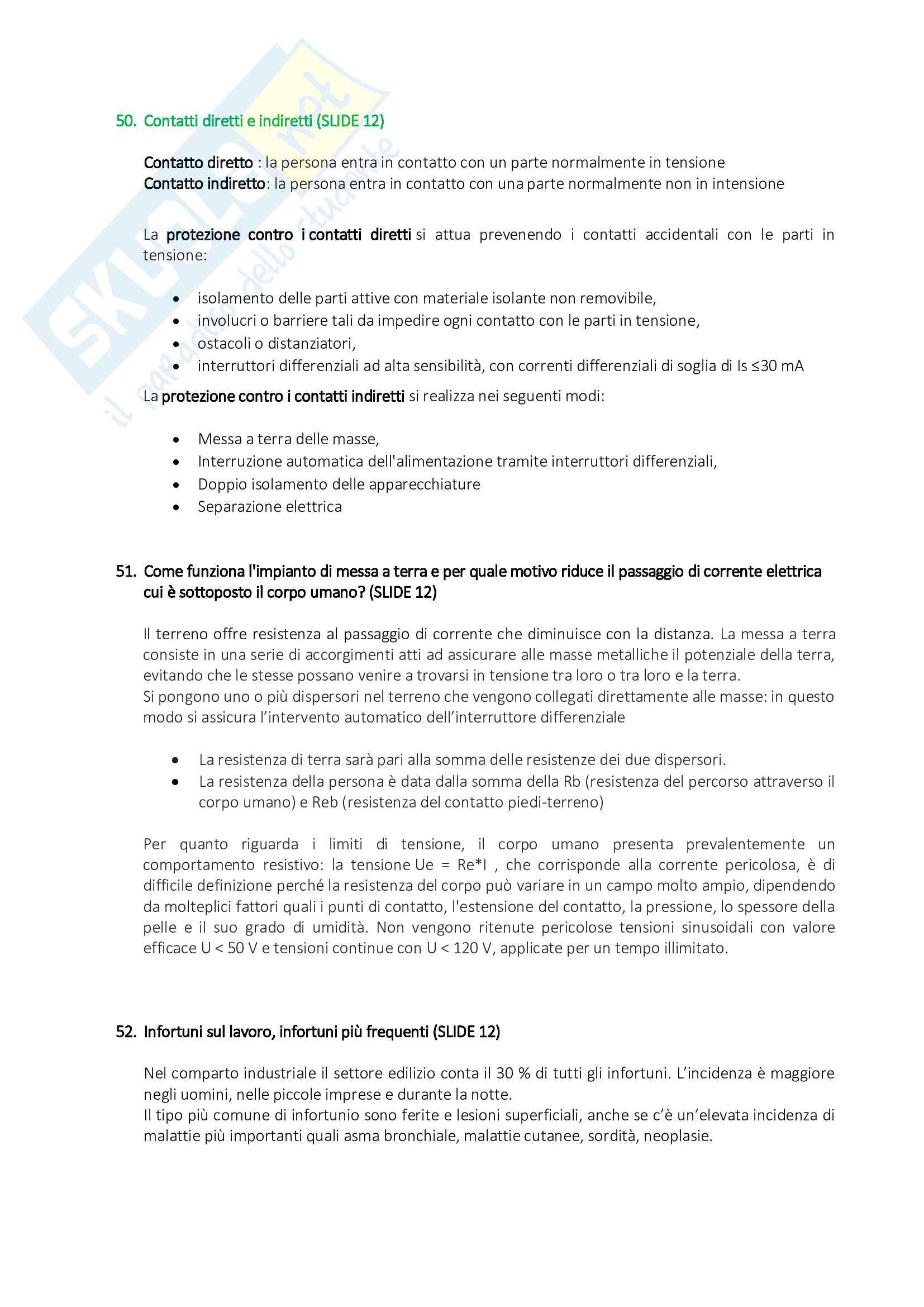 Organizzazione del Cantiere - Risposte alle Domande di Esame Pag. 21