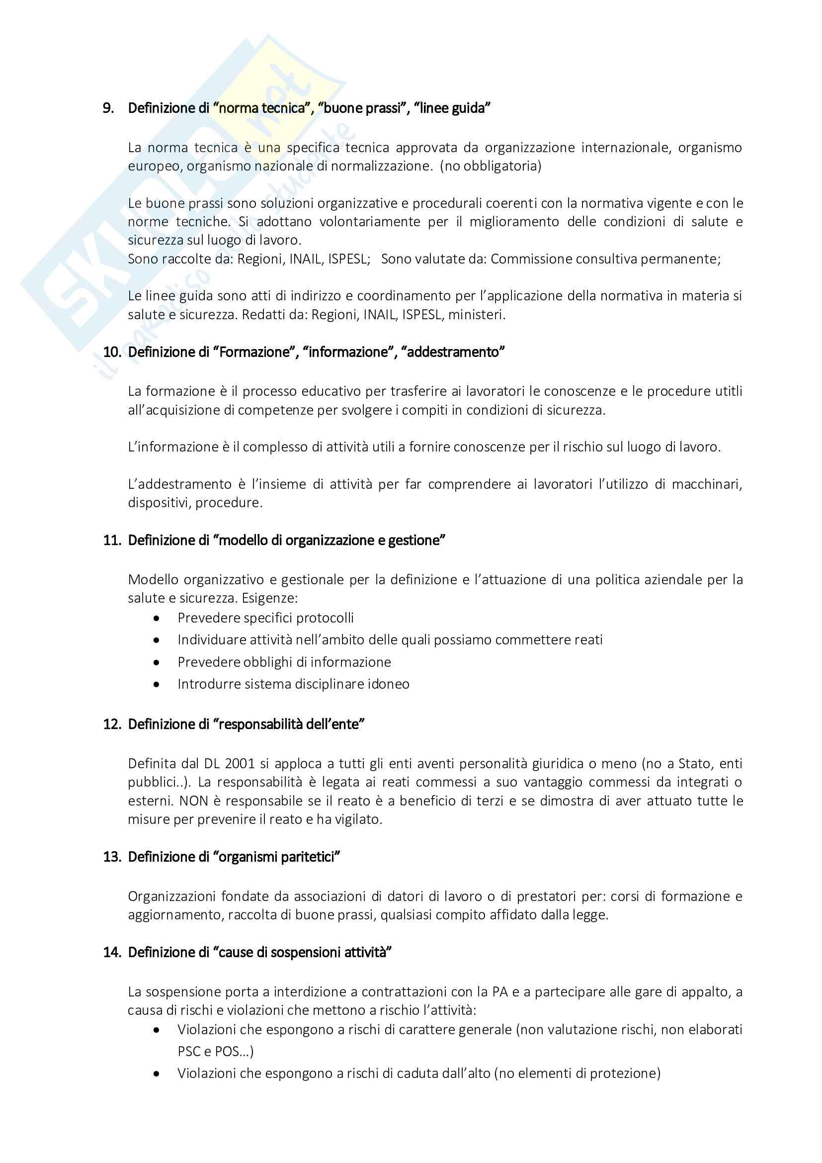 Organizzazione del Cantiere - Risposte alle Domande di Esame Pag. 36