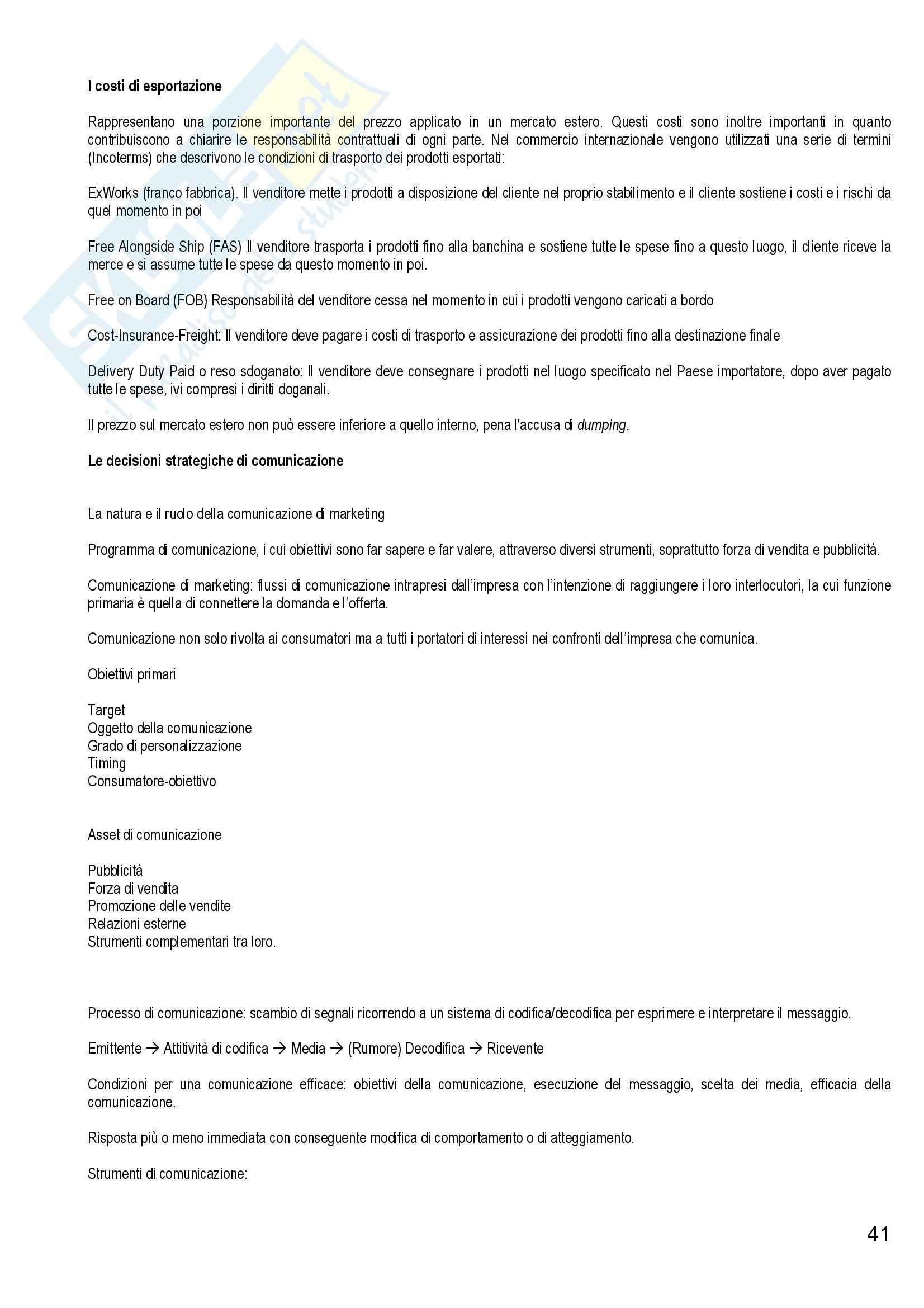 Riassunto esame Marketing e Strategie d'Impresa, prof. Cantone, libro consigliato Marketing Strategico e Operativo, Lambin Pag. 41