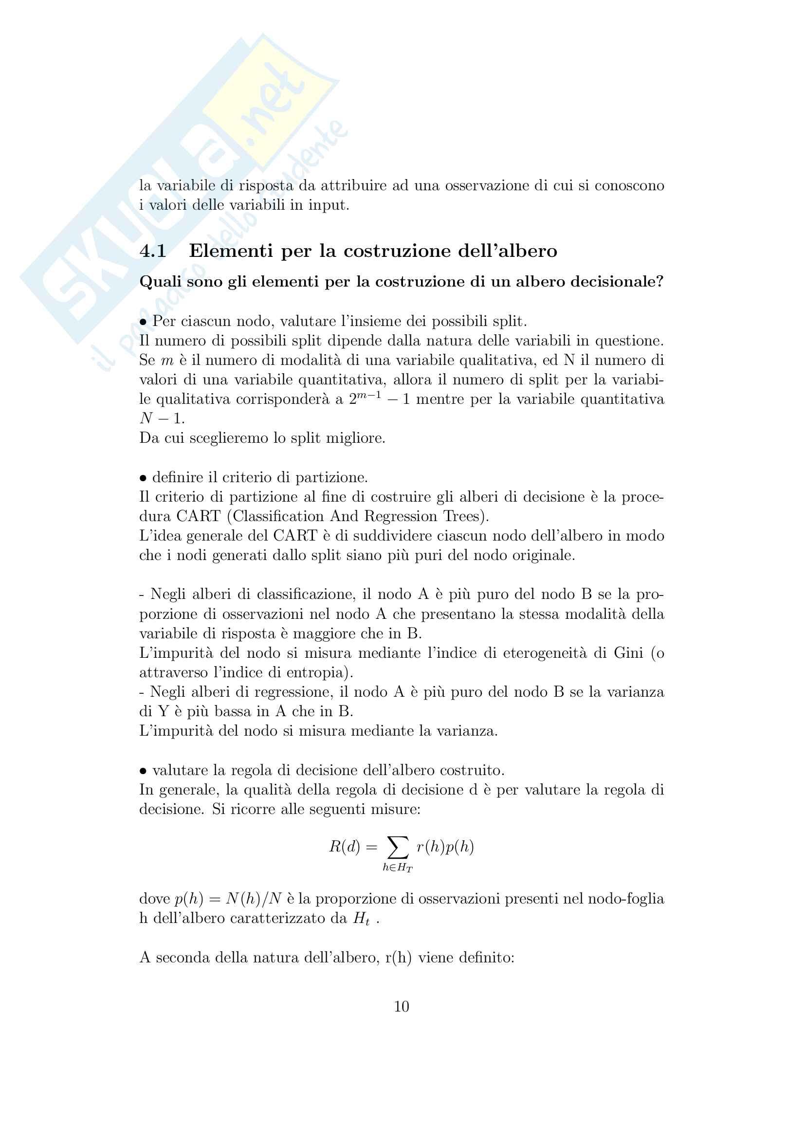 Apprendimento automatico (machine learning) Pag. 11