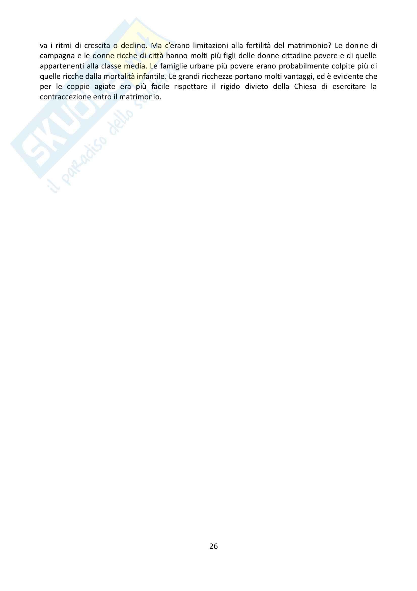 Riassunto esame Storia, prof. Grillo, libro consigliato La famiglia nel Medioevo, Herlihy Pag. 26