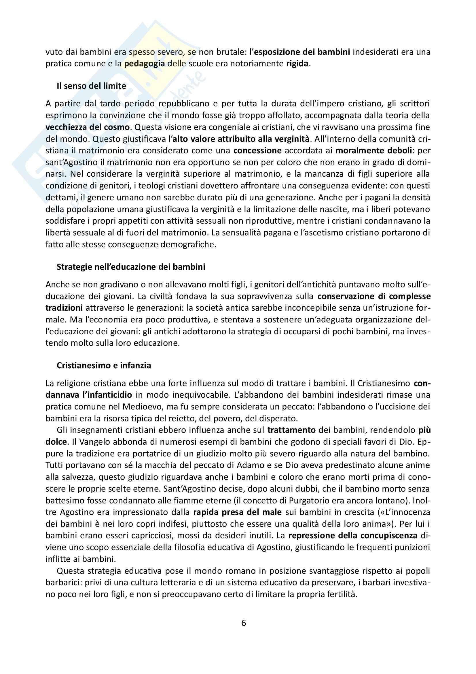 Riassunto esame Storia, prof. Grillo, libro consigliato La famiglia nel Medioevo, Herlihy Pag. 6