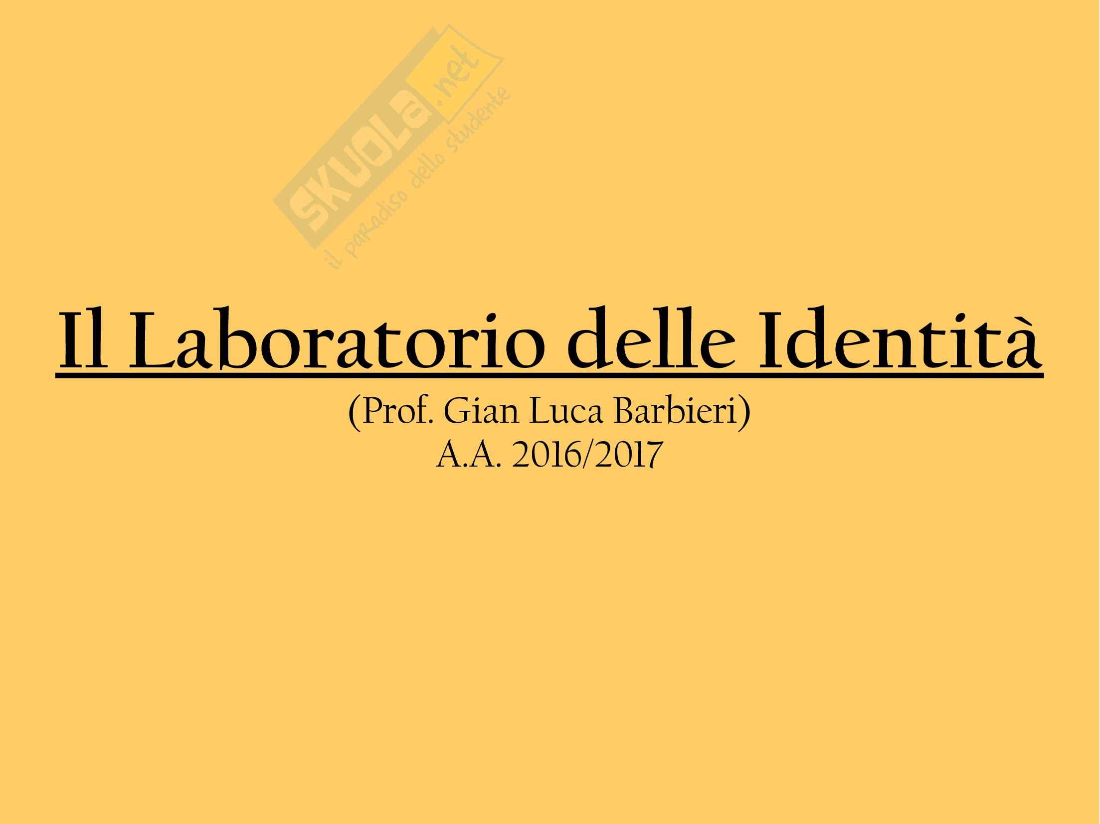 L'identità nel web: Laboratorio