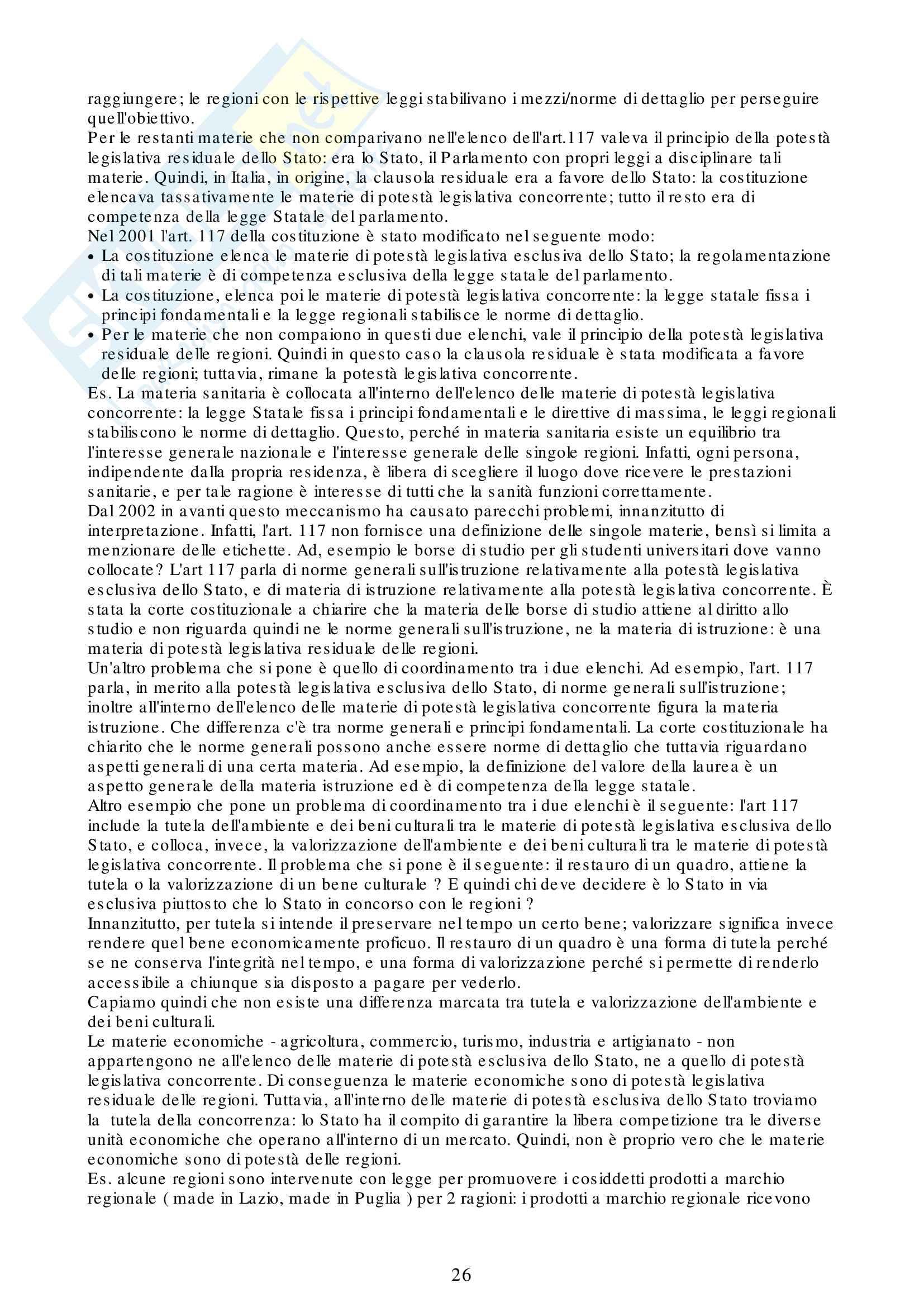 Appunti Diritto Pubblico e dell' Economia Pag. 26