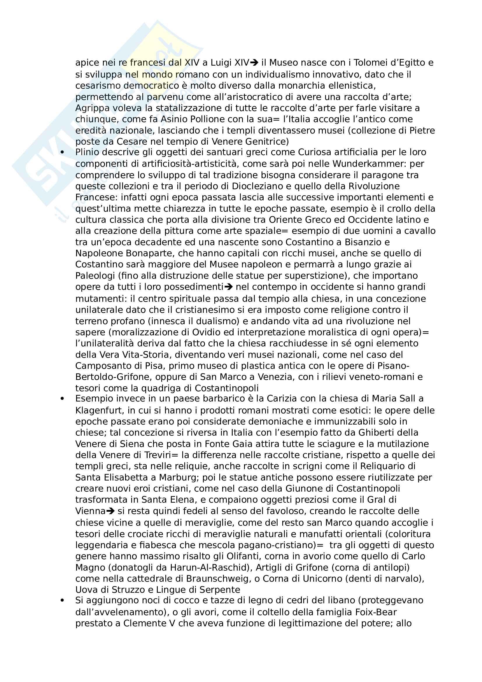 Riassunto esame Storia della letteratura artistica, prof Sacchi, libro consigliato Le Raccolte d'arte delle meraviglie, Schlosser Pag. 2