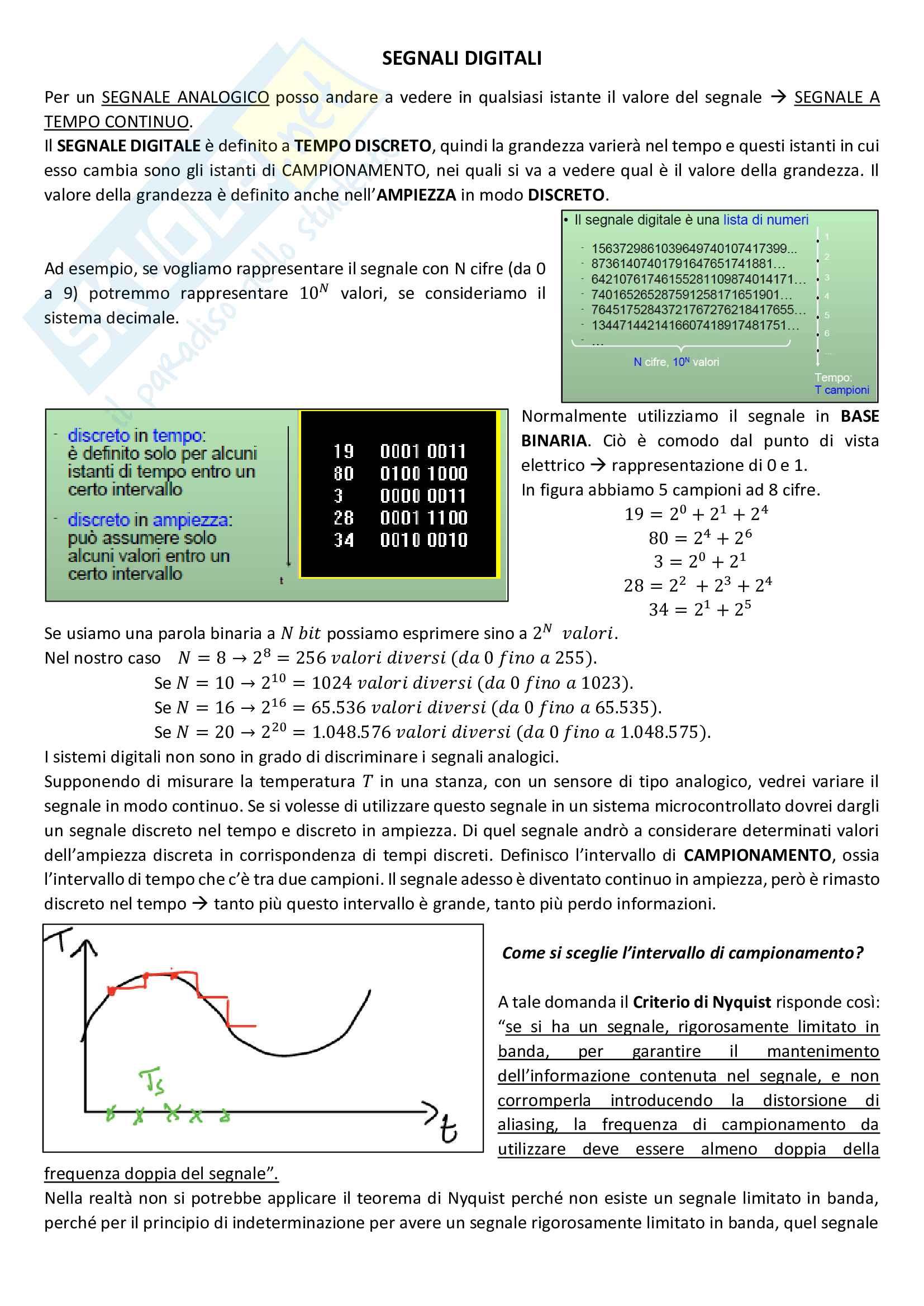 Appunti corso completo Progettazione Dispositivi Biomedici Programmabili